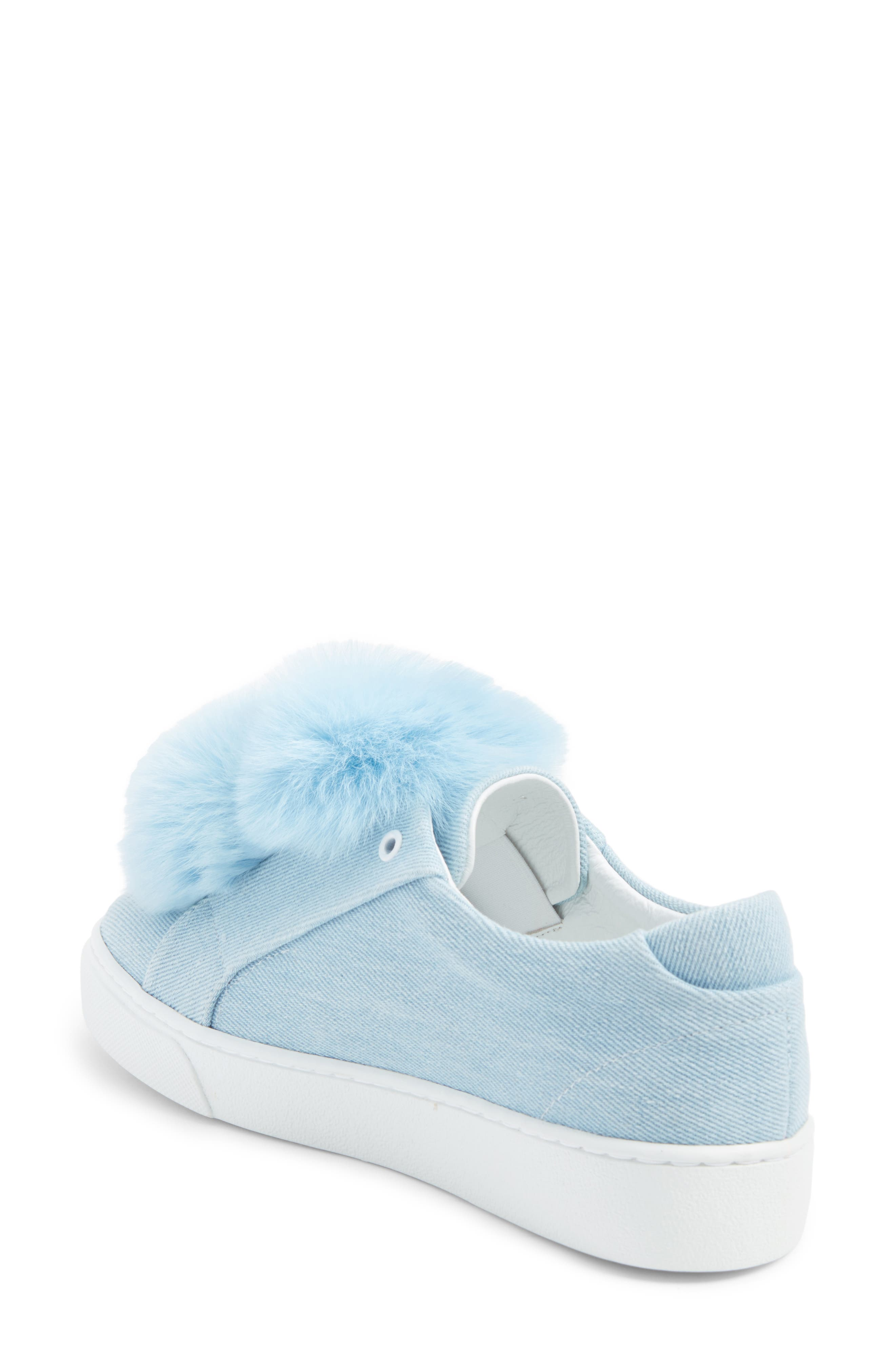 Alternate Image 2  - Here / Now Stella Genuine Fox Fur Trim Platform Sneaker (Women)