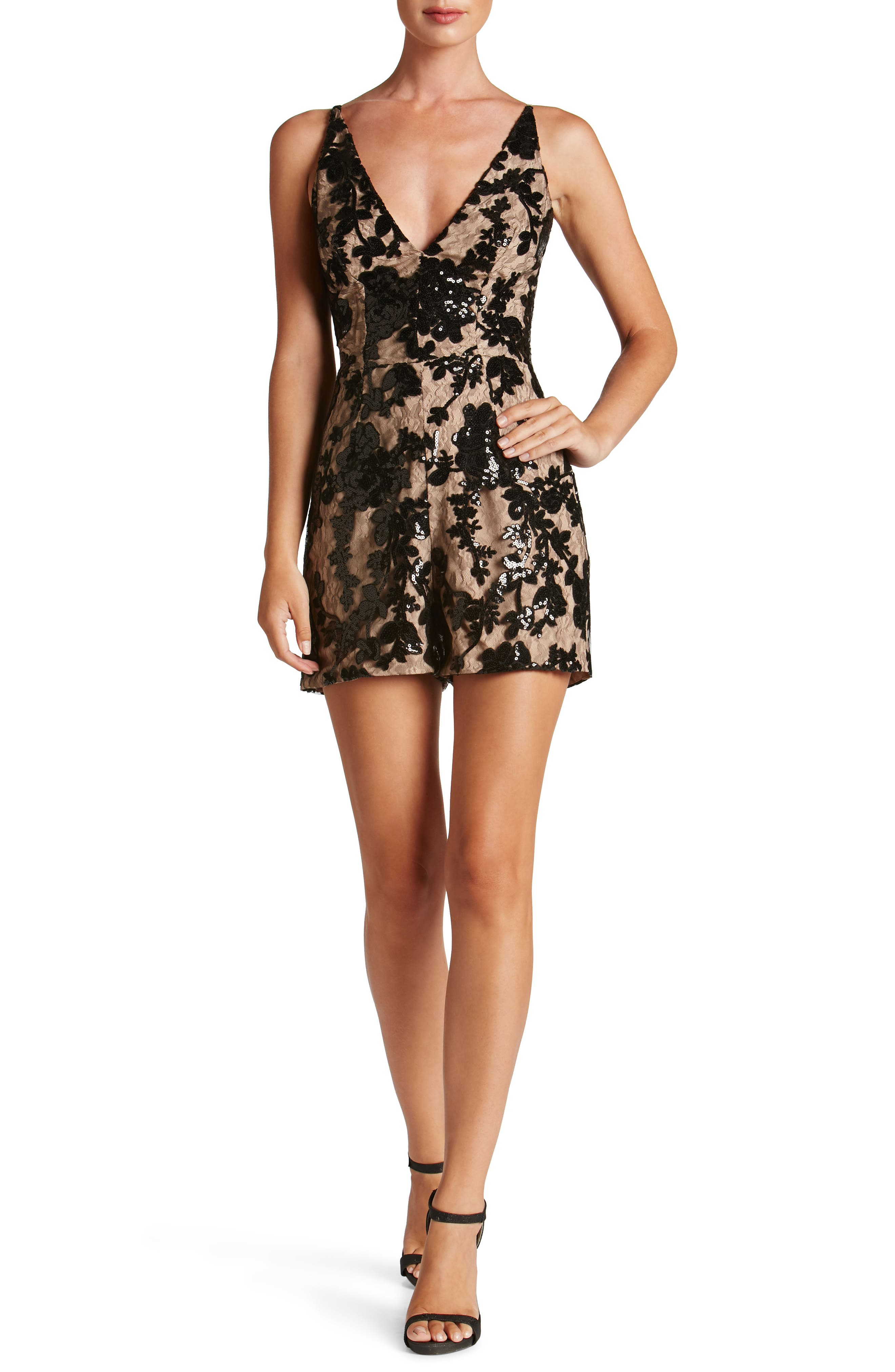 Dress the Population Carly Romper (Nordstrom Exclusive)