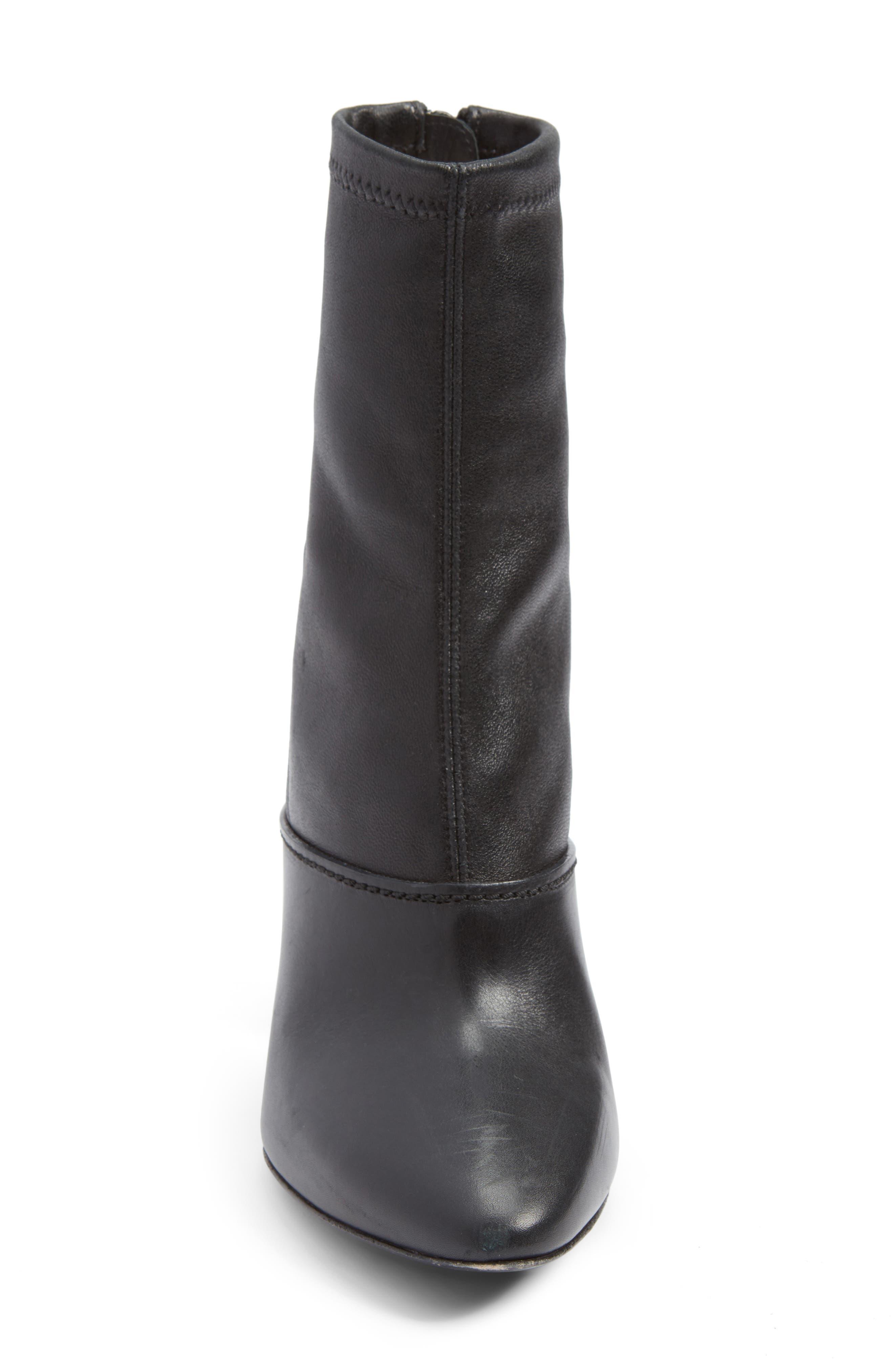 Kyoto Leather Bootie,                             Alternate thumbnail 4, color,                             Black