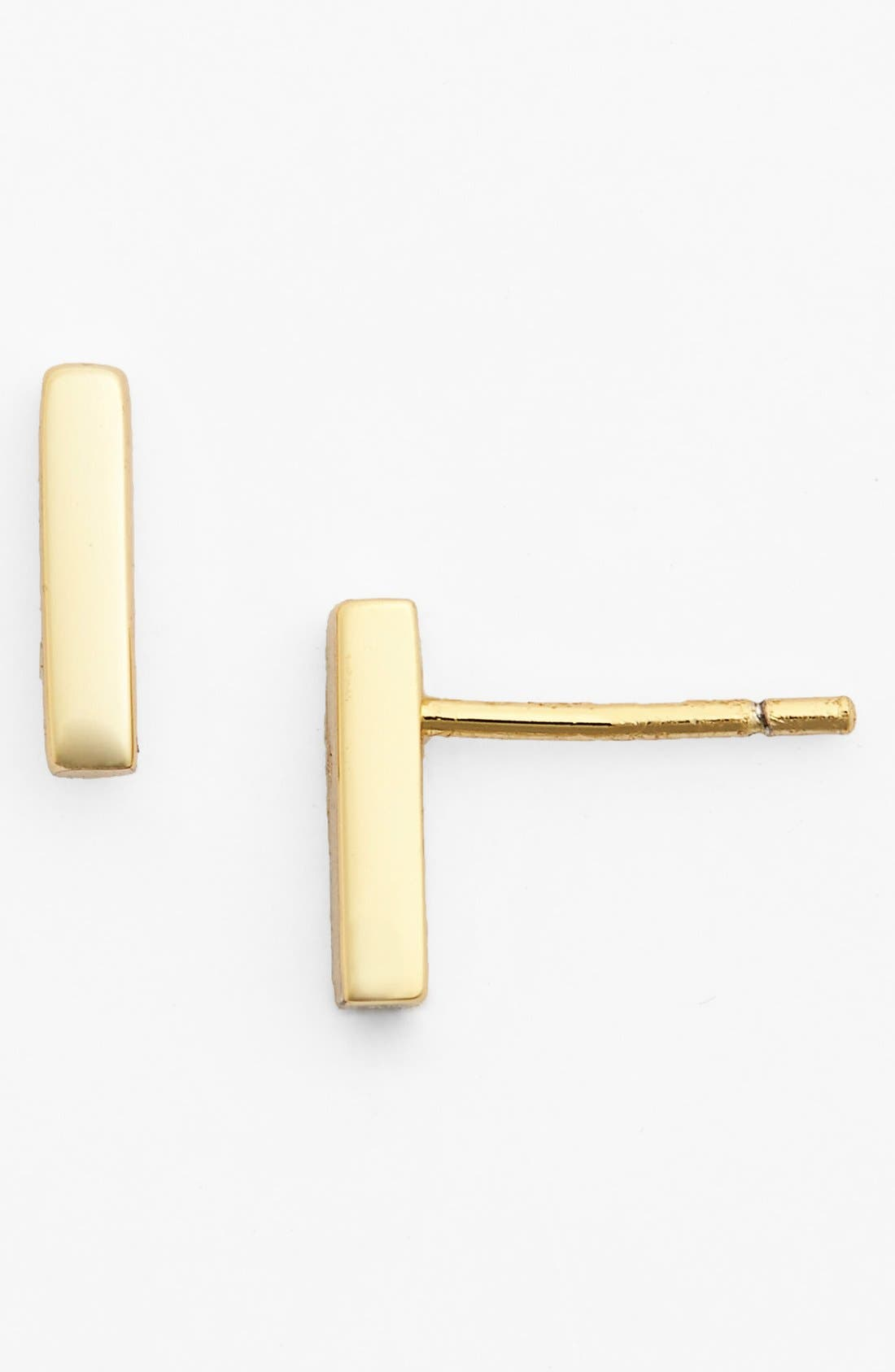 ARGENTO VIVO Straight Bar Stud Earrings in Gold