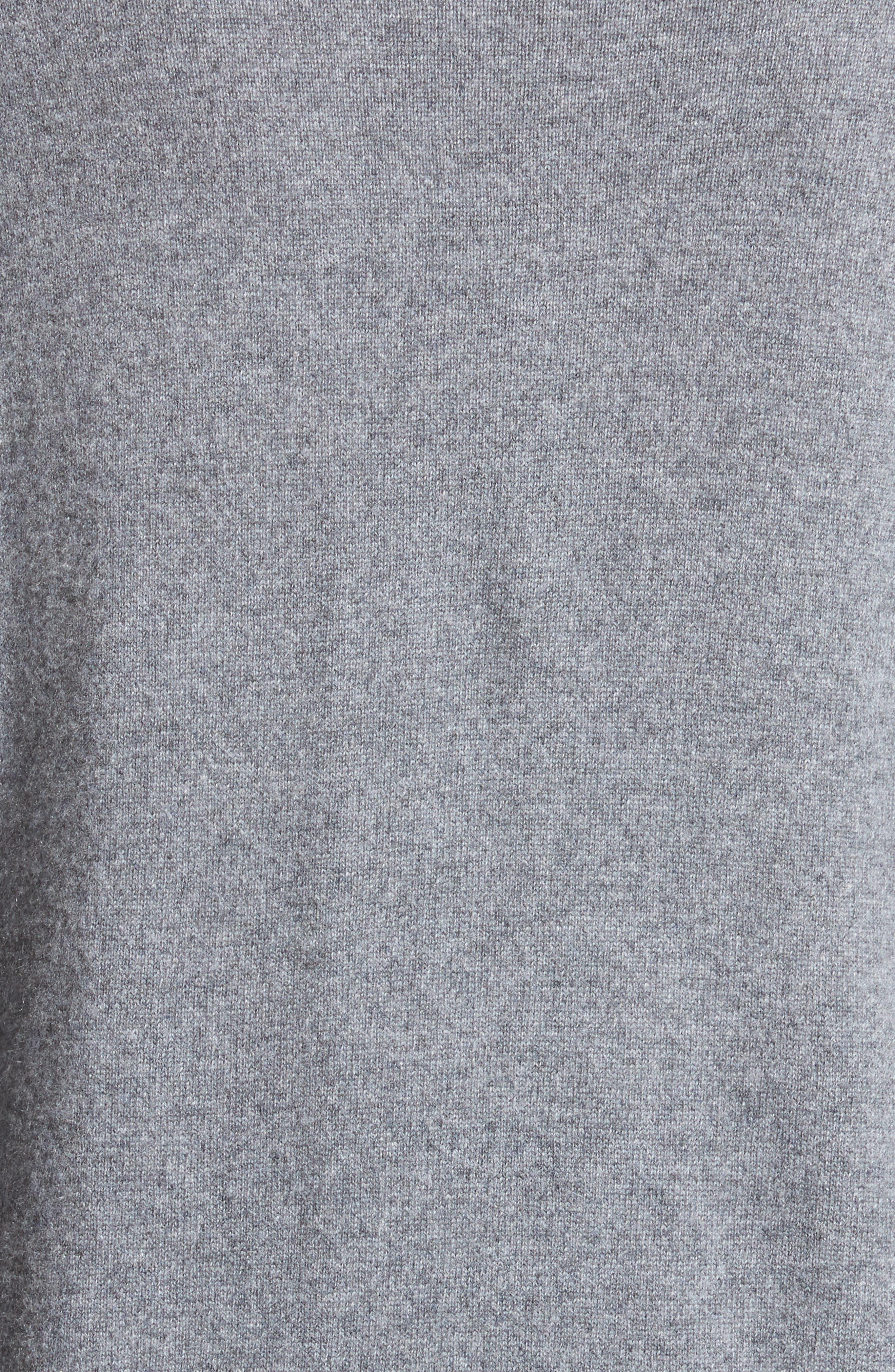 Embellished Cashmere Turtleneck Sweater,                             Alternate thumbnail 3, color,                             Grey