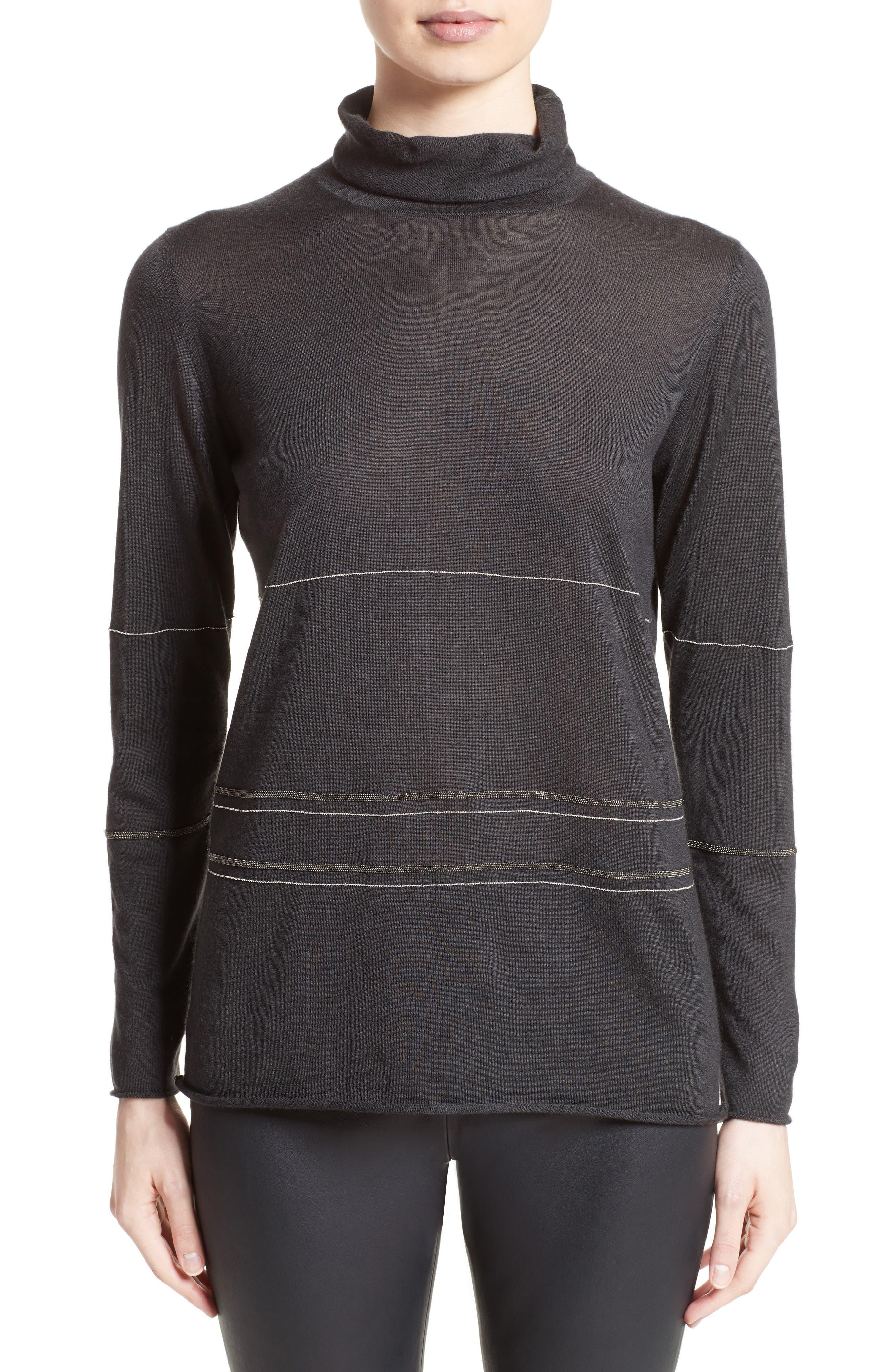 Main Image - Fabiana Filippi Cashmere & Silk Turtleneck Sweater