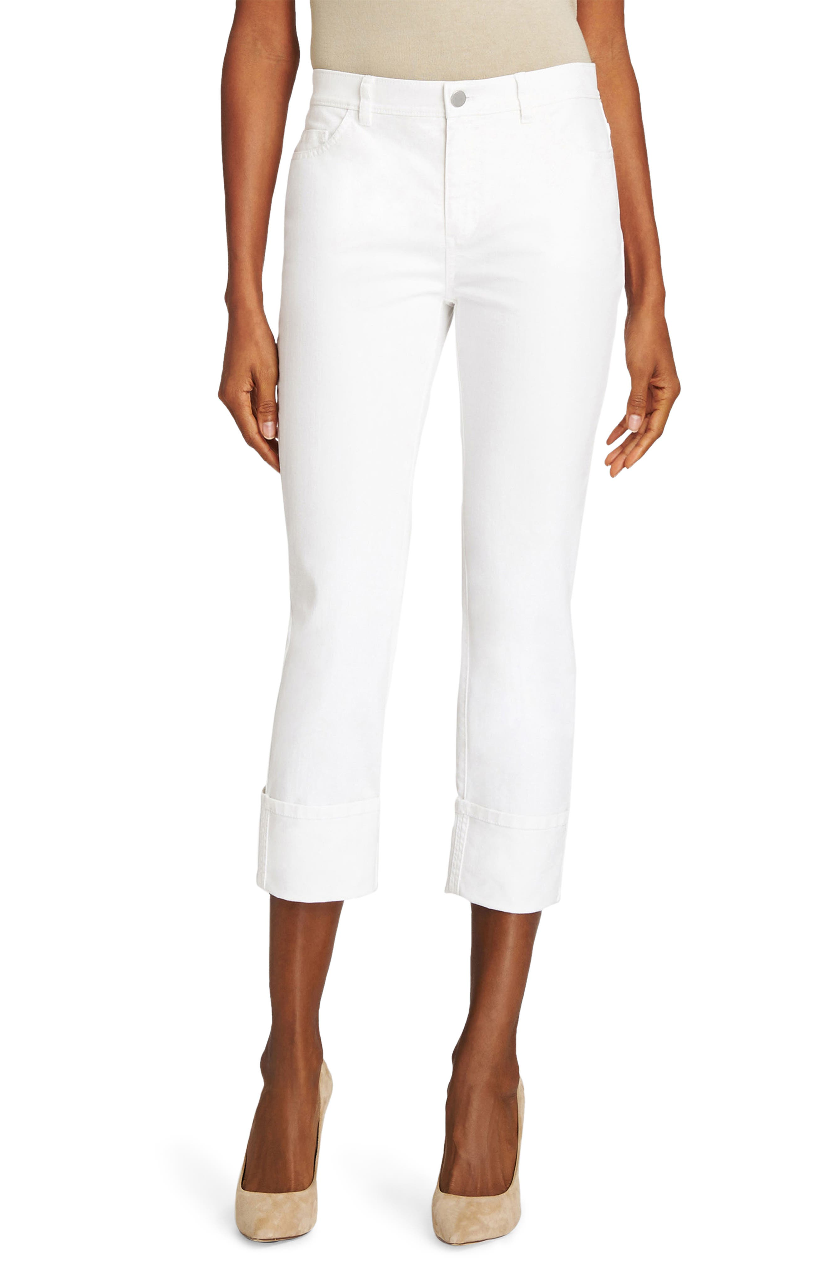 Lafayette 148 New York Thompson Cuffed Crop Jeans