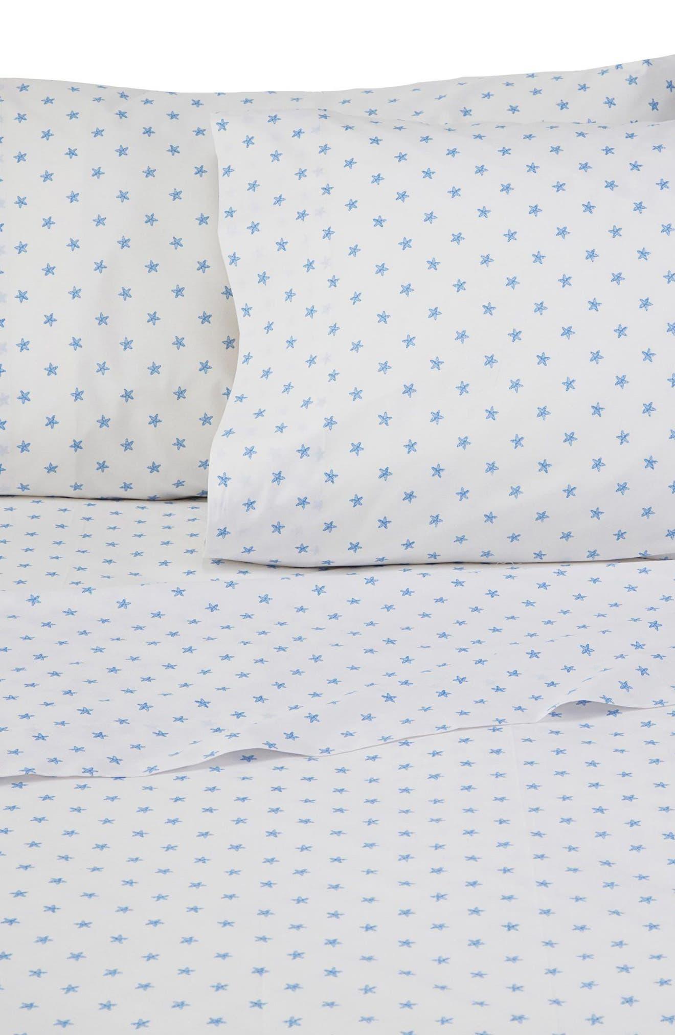 Sea Stars Pillowcases,                         Main,                         color, White