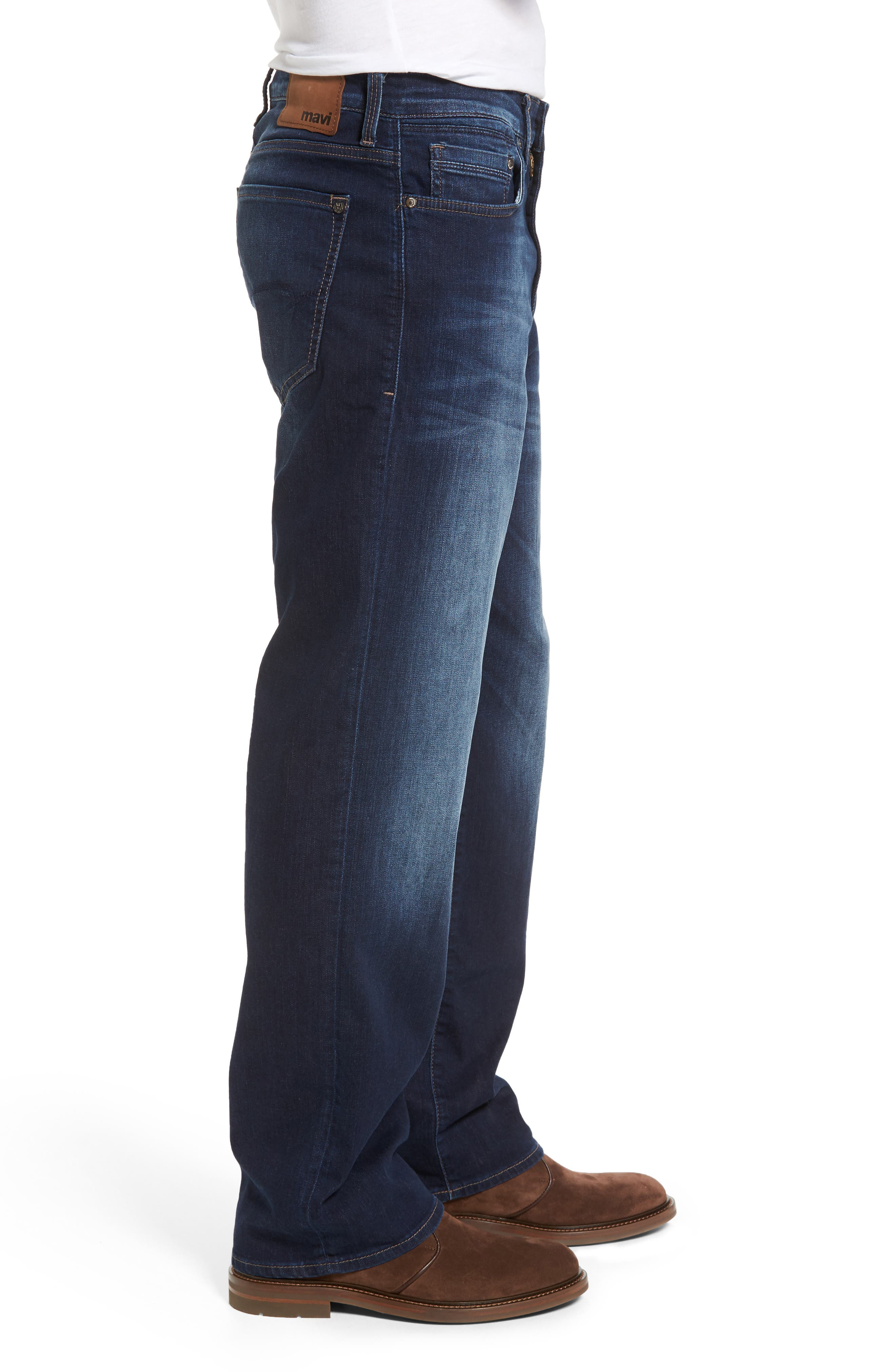 'Max' Relaxed Fit Jeans,                             Alternate thumbnail 3, color,                             Dark Williamsburg