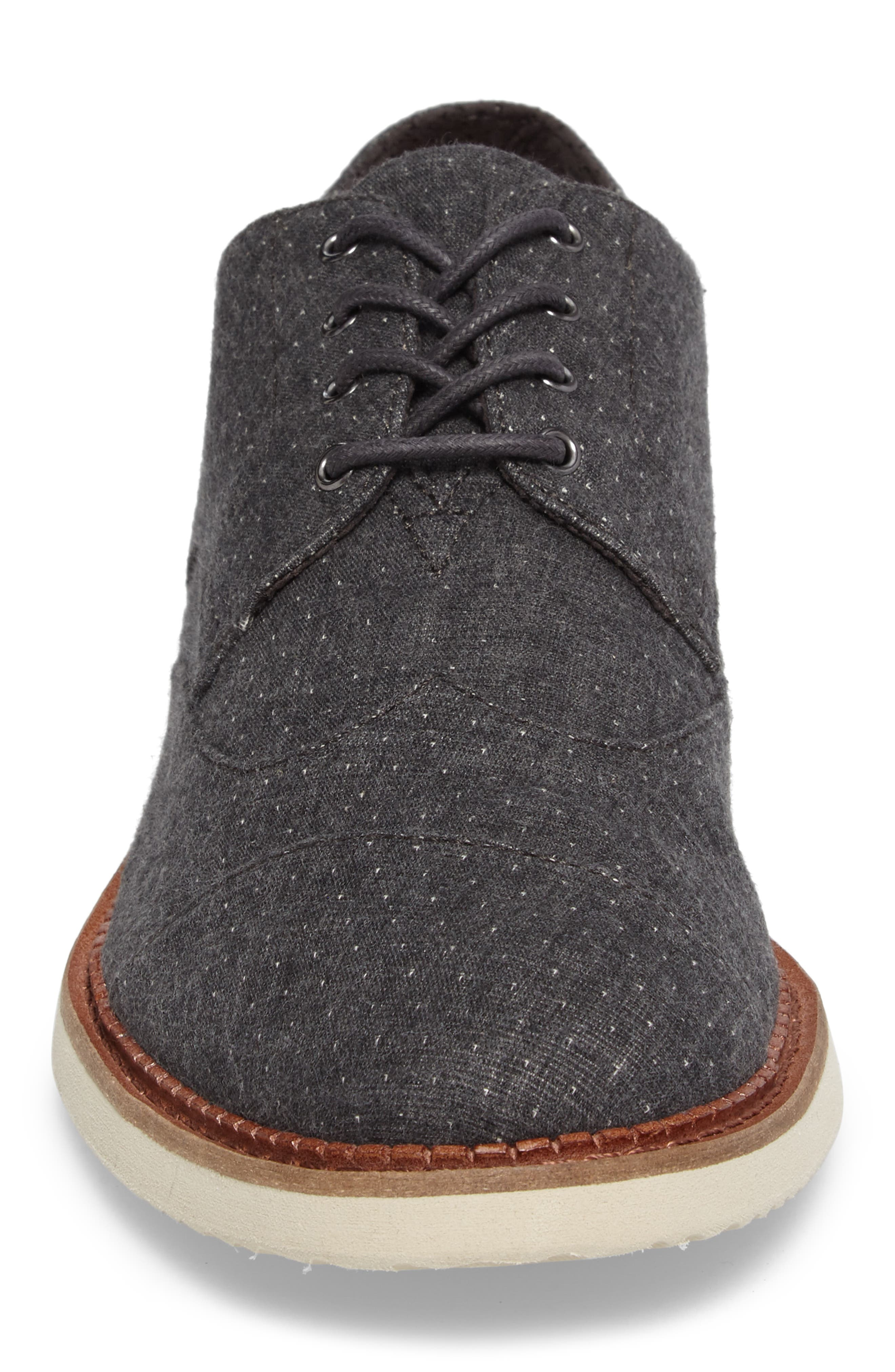 'Classic Brogue' Cotton Twill Derby,                             Alternate thumbnail 4, color,                             Grey