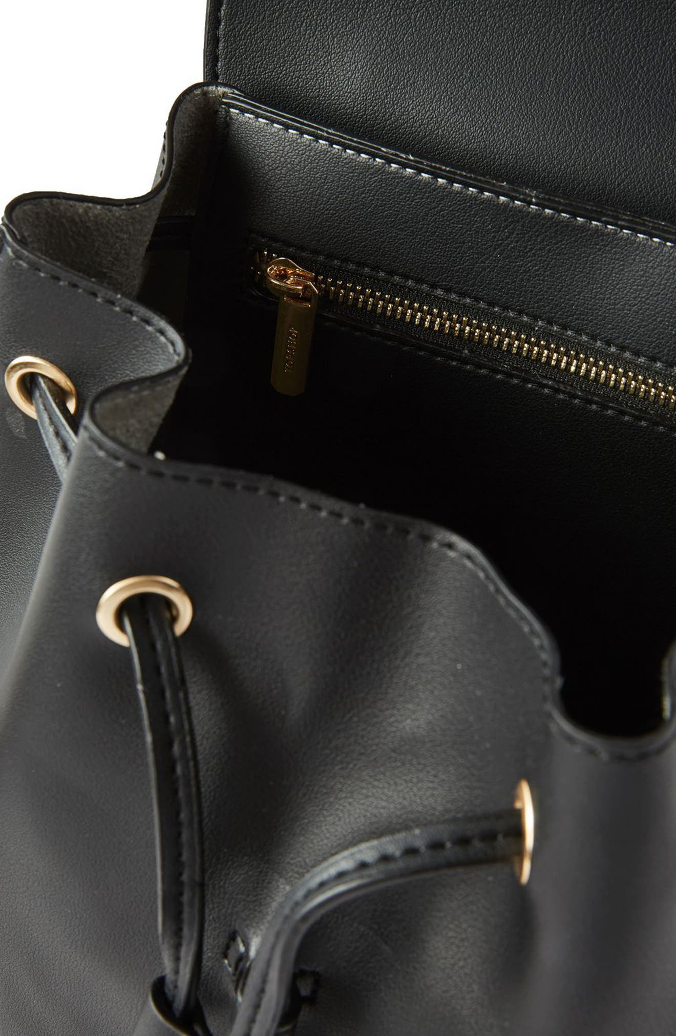 Alternate Image 4  - Topshop Blake Mini Faux Leather Backpack