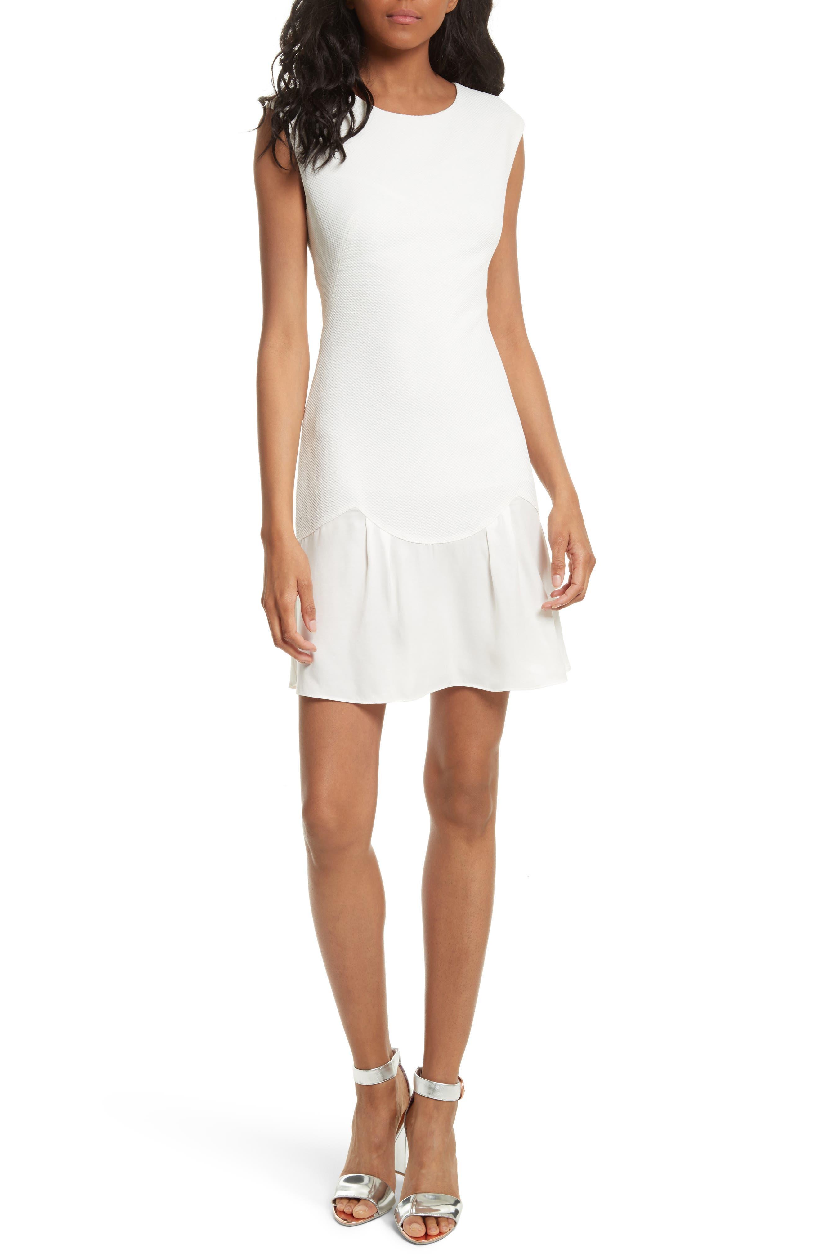 Stacy Drop Waist Dress,                         Main,                         color, White