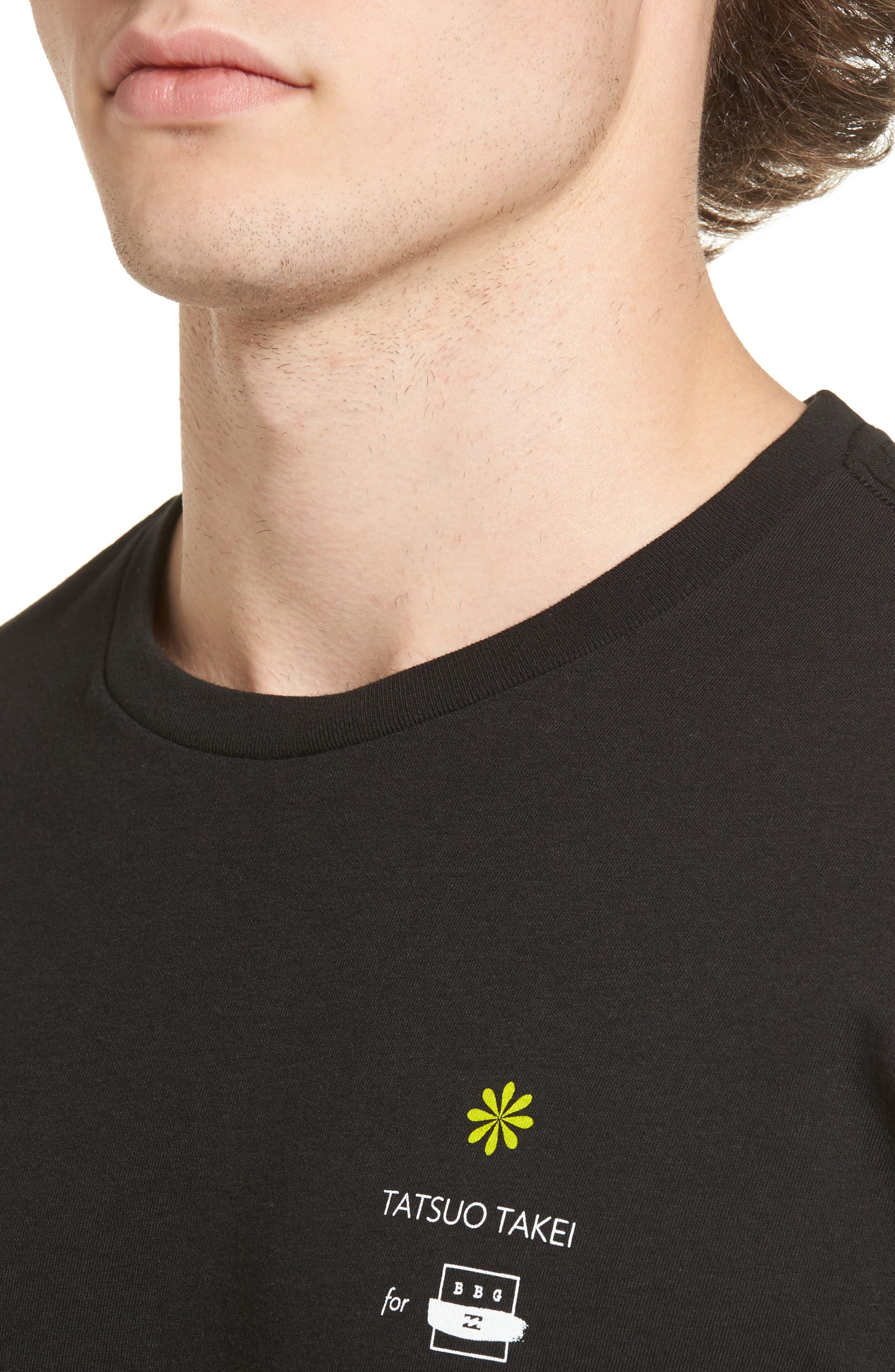 Offshore T-Shirt,                             Alternate thumbnail 4, color,                             Black
