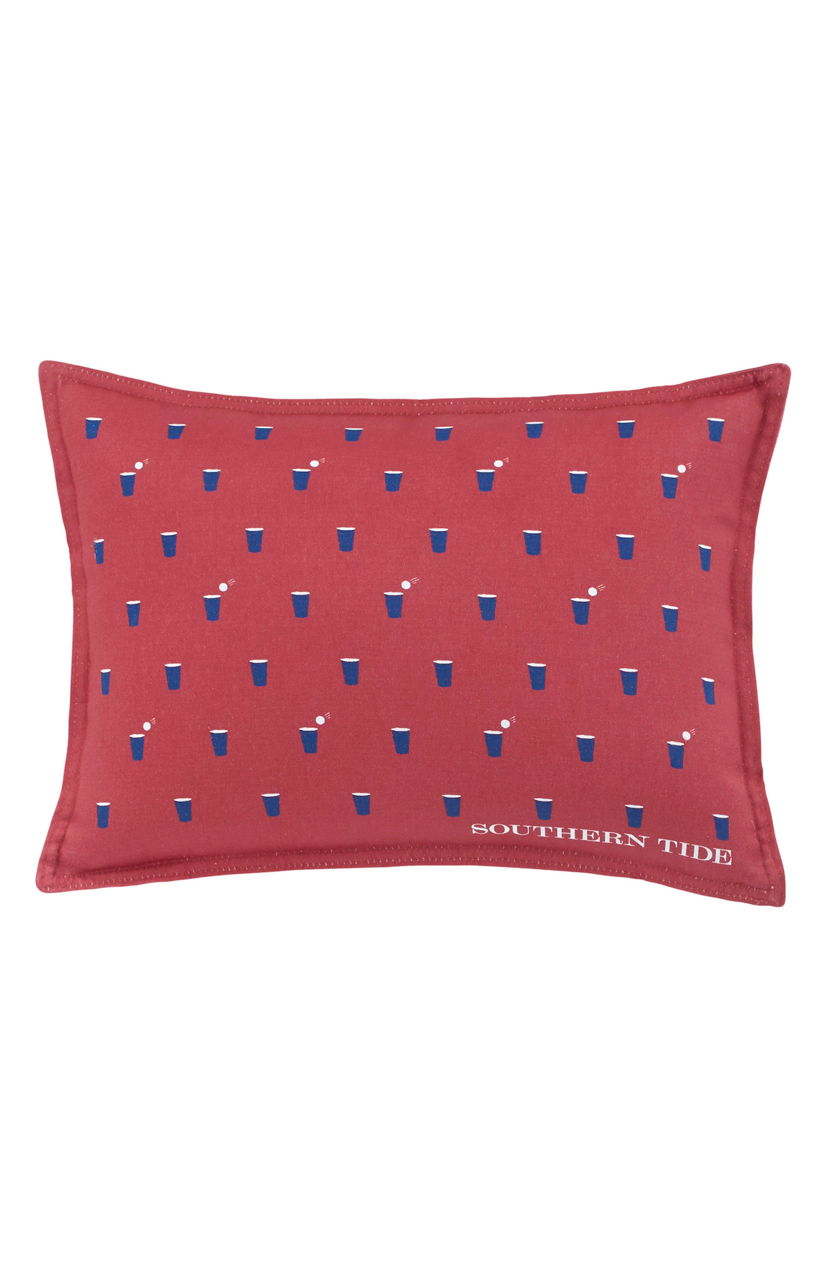 Skipjack Chino Happy Hour Accent Pillow,                         Main,                         color, Charleston Red