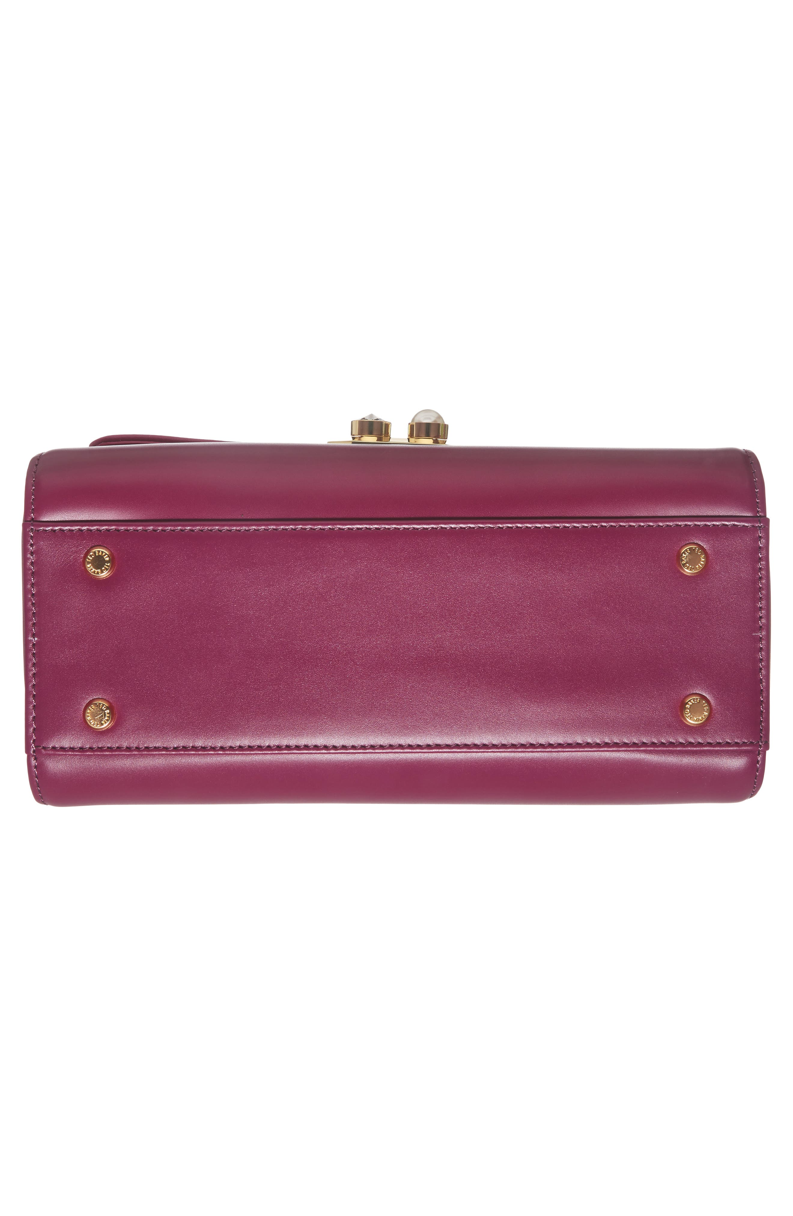 Shirley Leather Crossbody Bag,                             Alternate thumbnail 4, color,                             Bright Pink