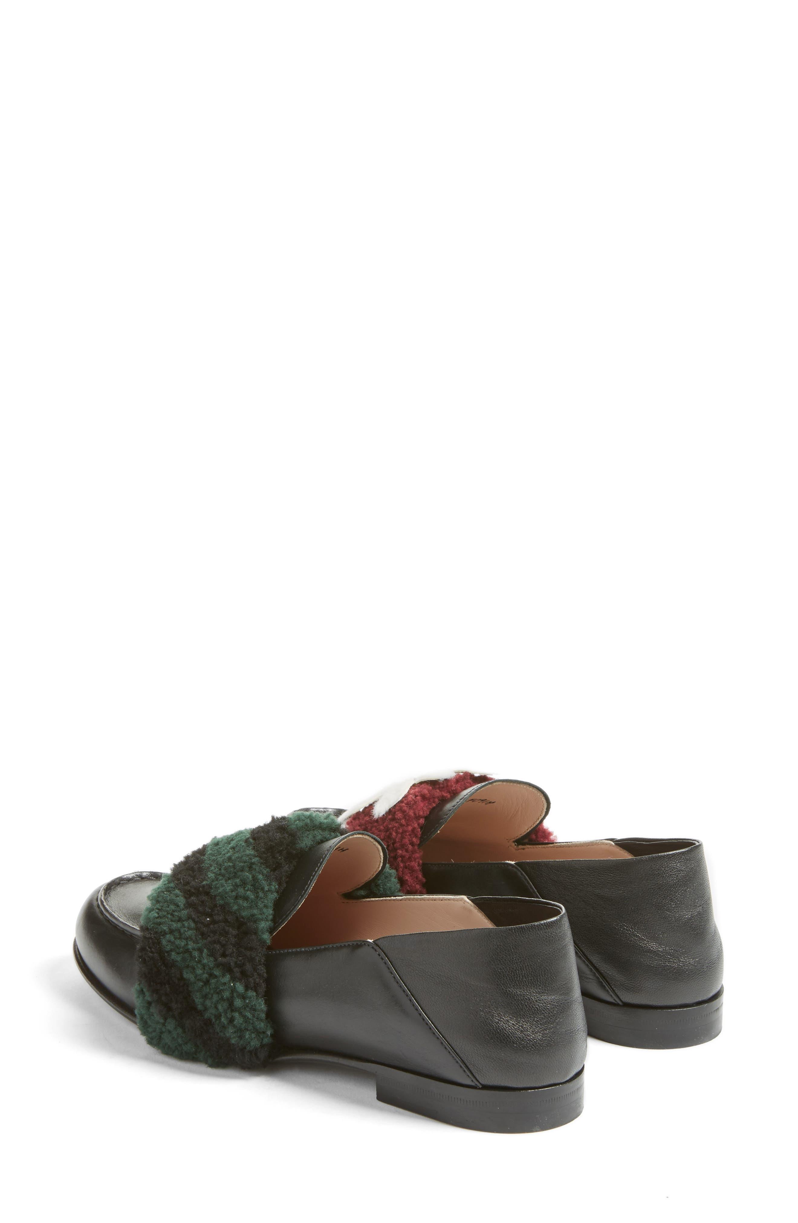 Alternate Image 2  - Fendi Genuine Shearling Slip-On Loafer (Women)