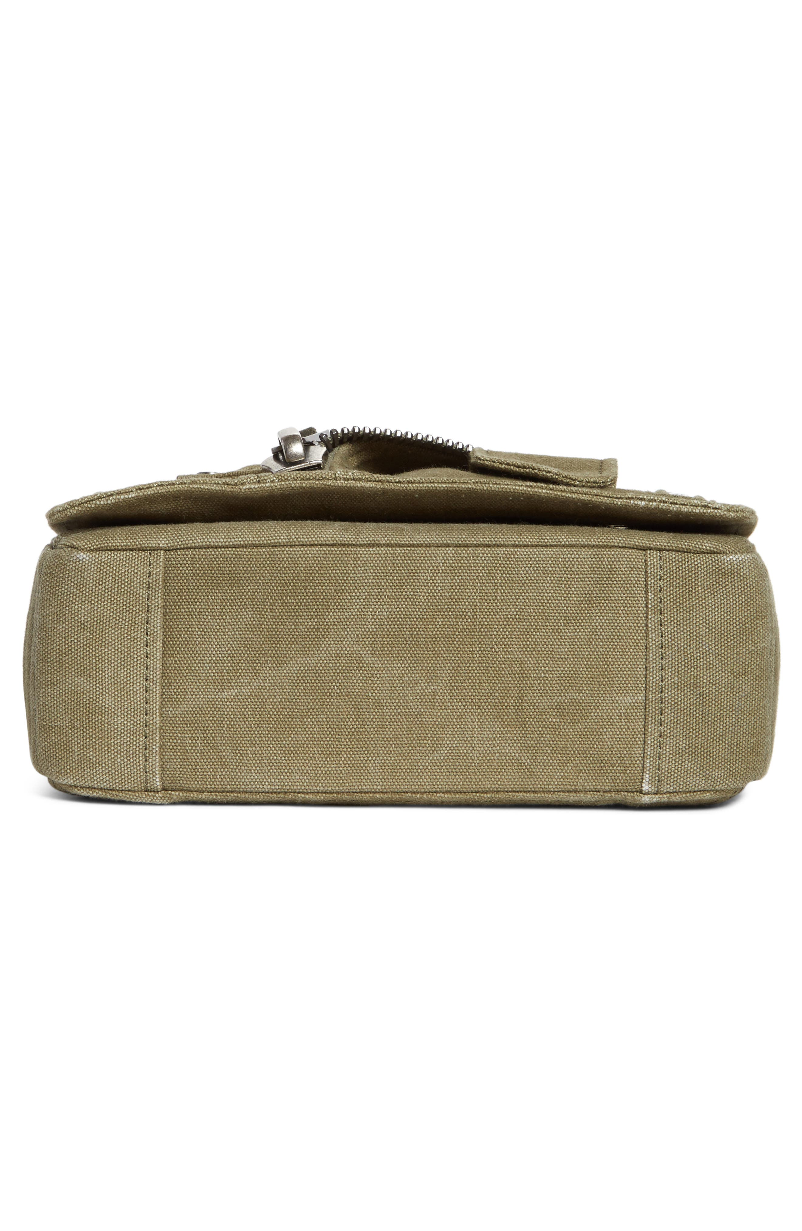 Small Biker Jacket Shoulder Bag,                             Alternate thumbnail 6, color,                             Olive