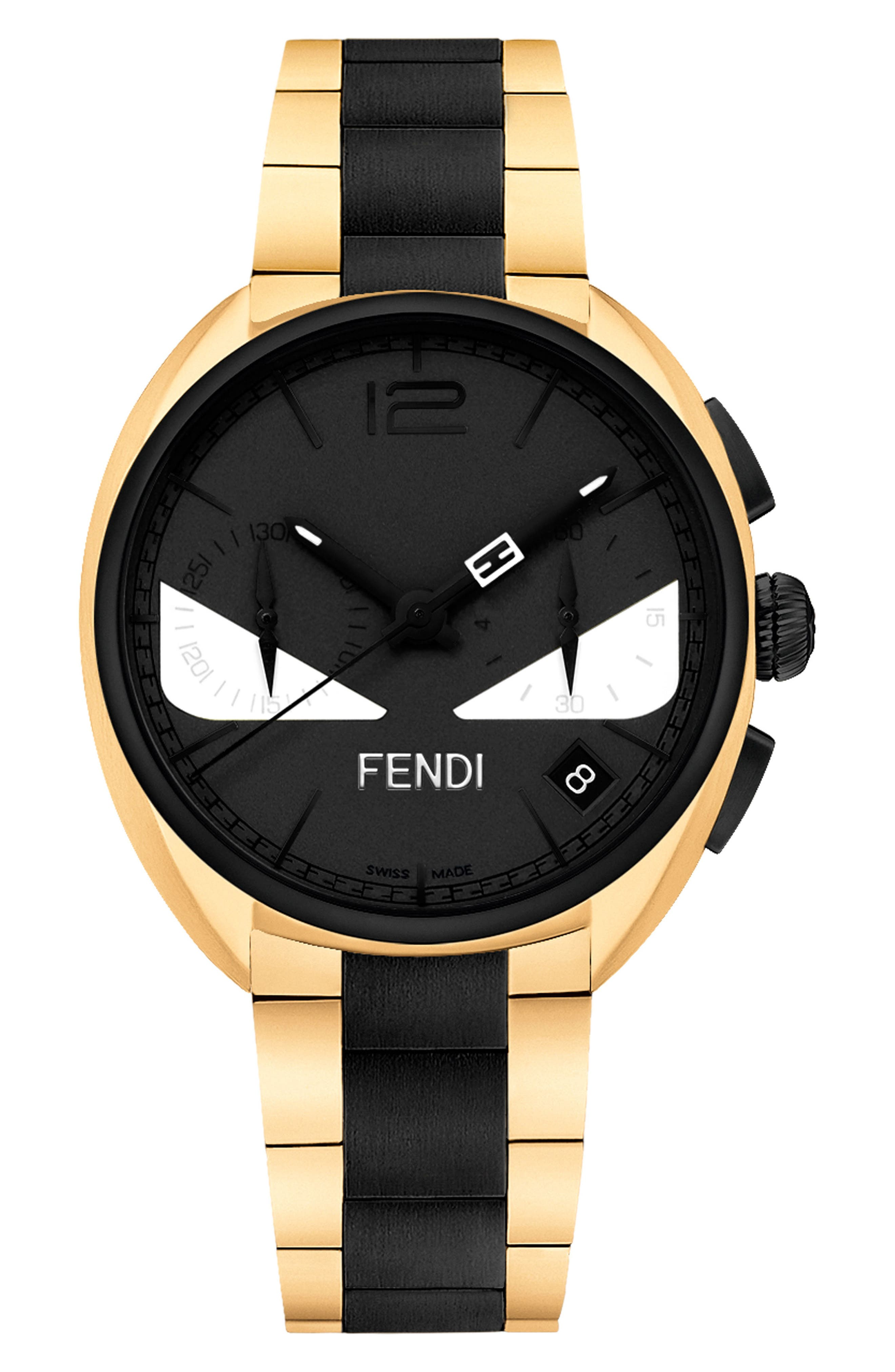 Fendi Momento Bug Chronograph Bracelet Watch, 40mm