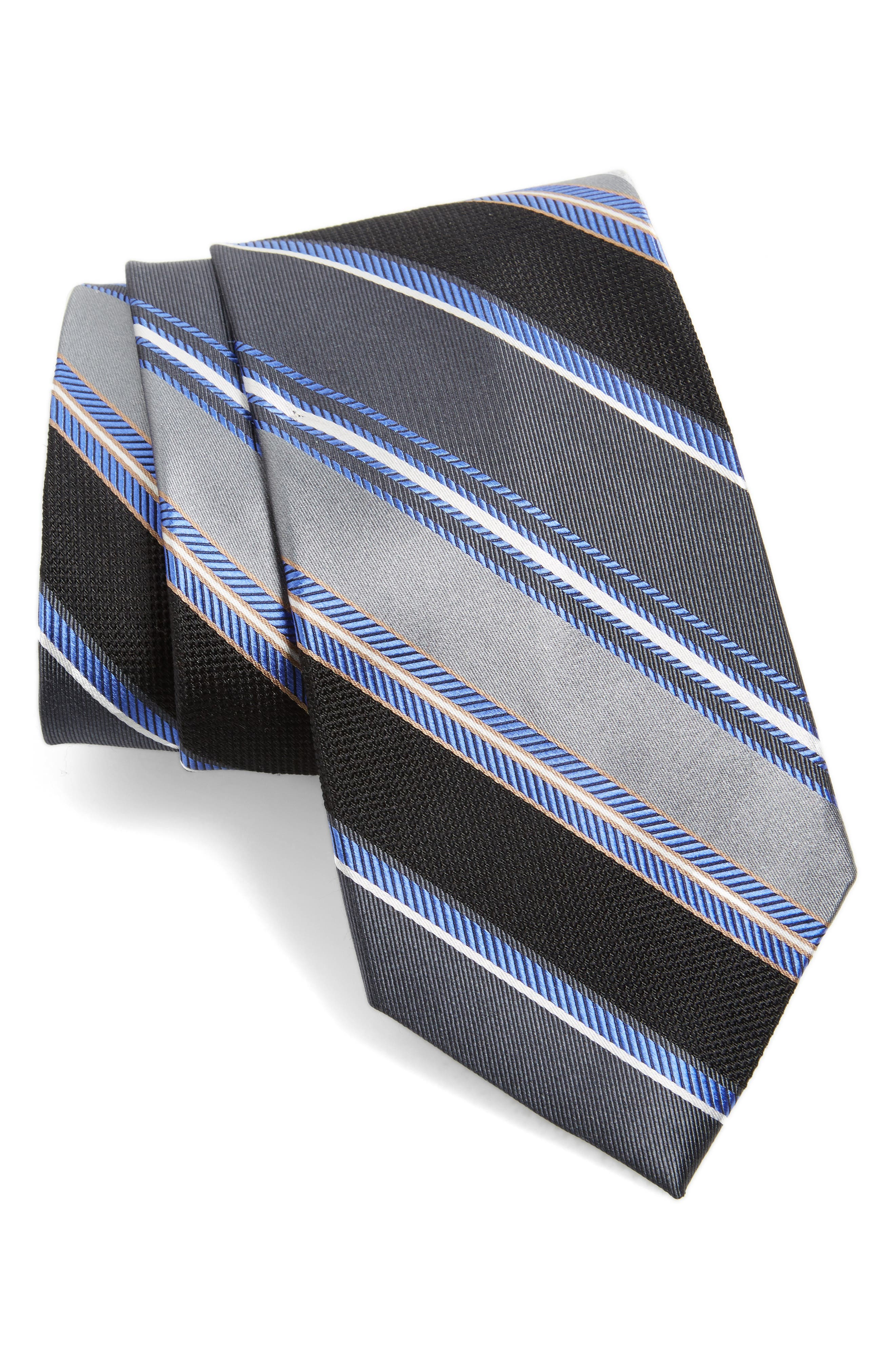 Main Image - Nordstrom Men's Shop Regal Stripe Silk Tie (X-Long)
