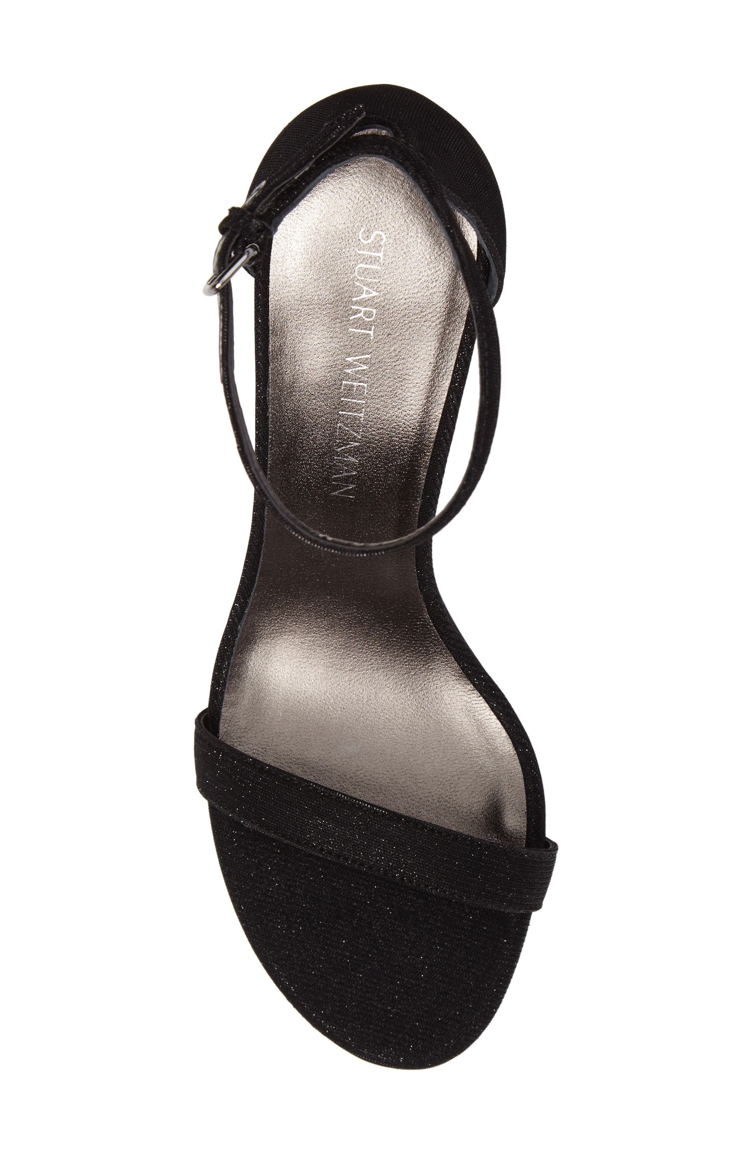 'Nunaked' Leather Ankle Strap Sandal,                             Alternate thumbnail 6, color,                             Nero Nocturn Nappa