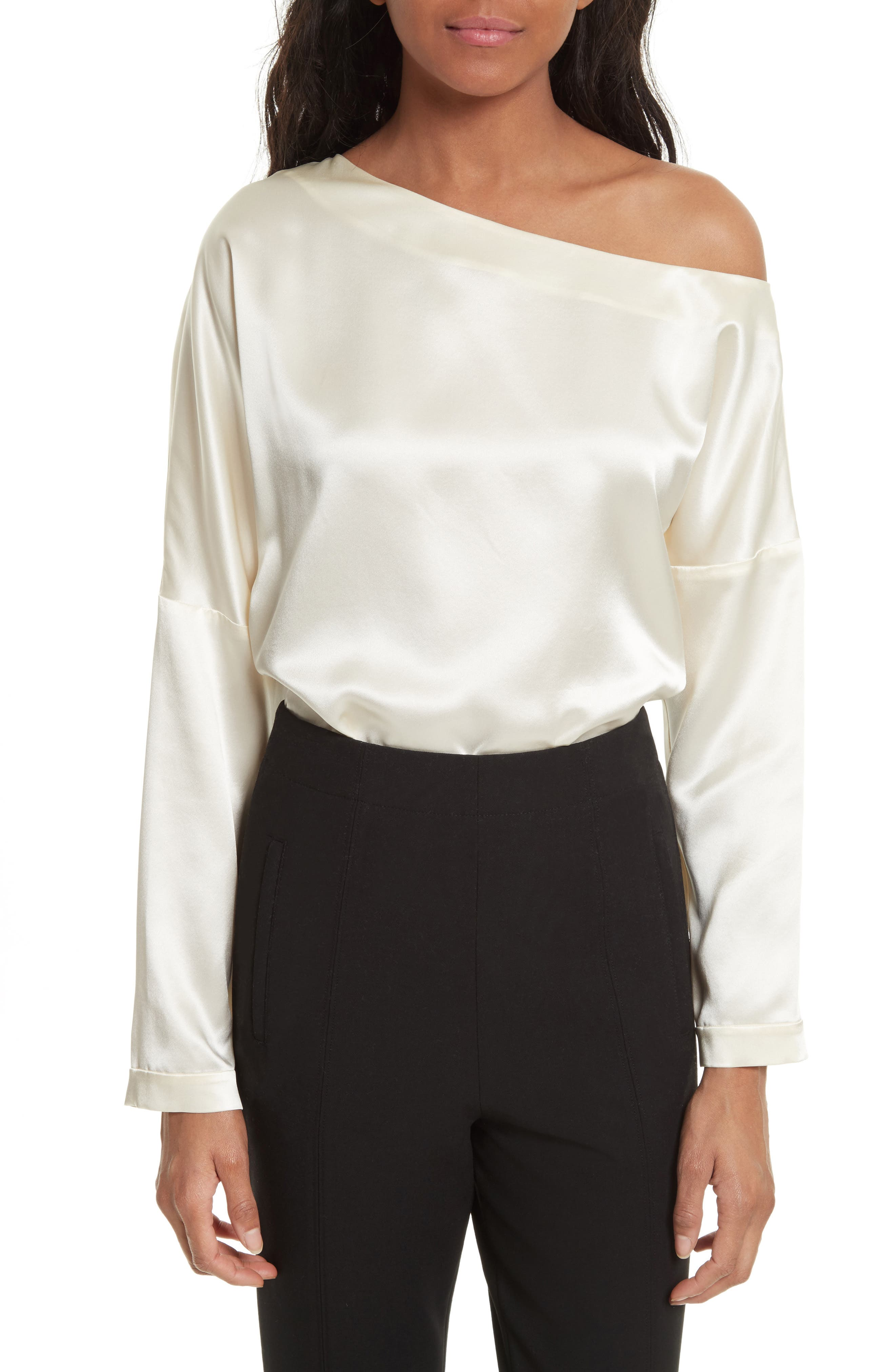 Main Image - Tibi One-Shoulder Silk Top