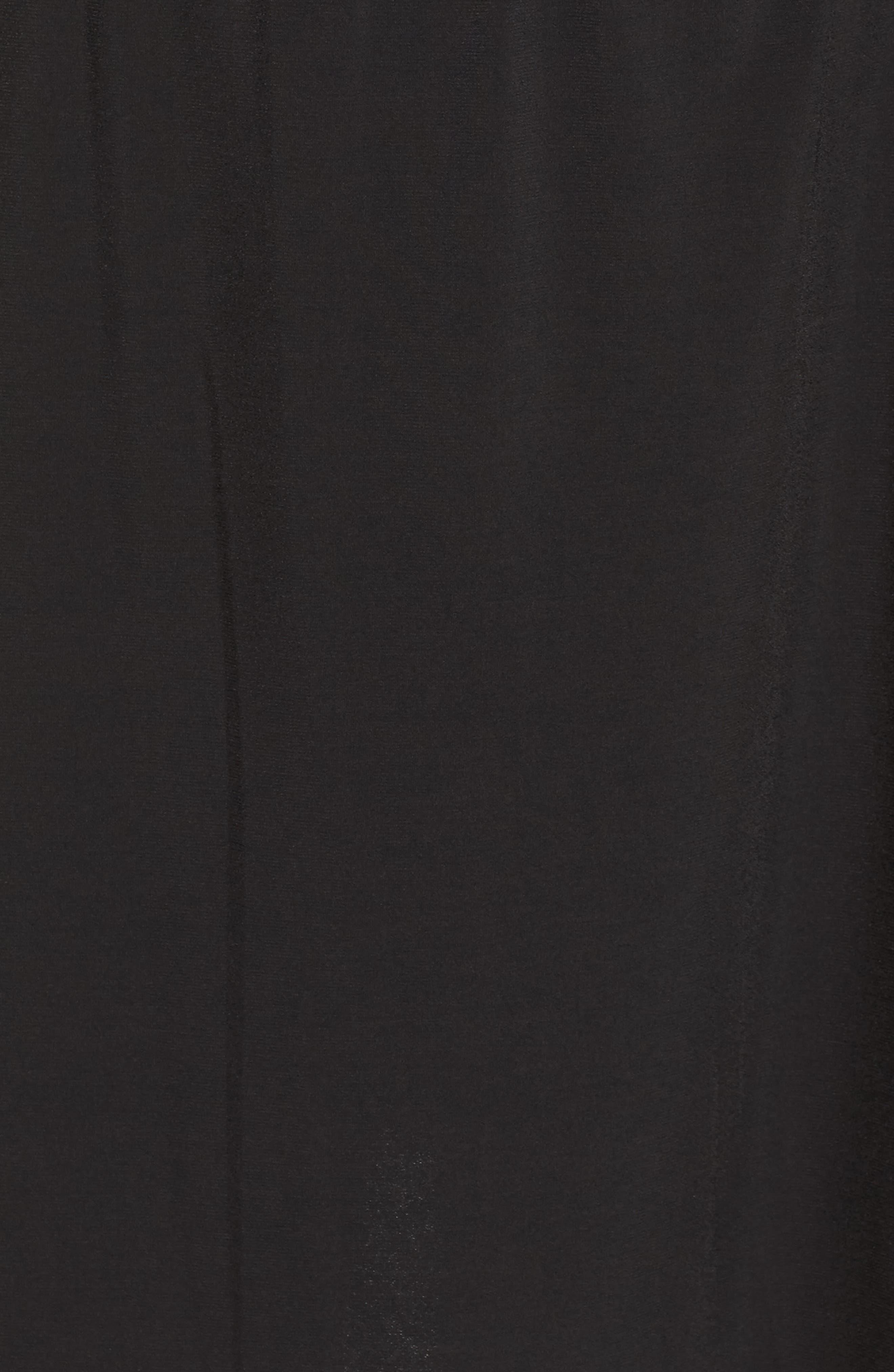 Cold Shoulder A-Line Jersey Dress,                             Alternate thumbnail 5, color,                             Black