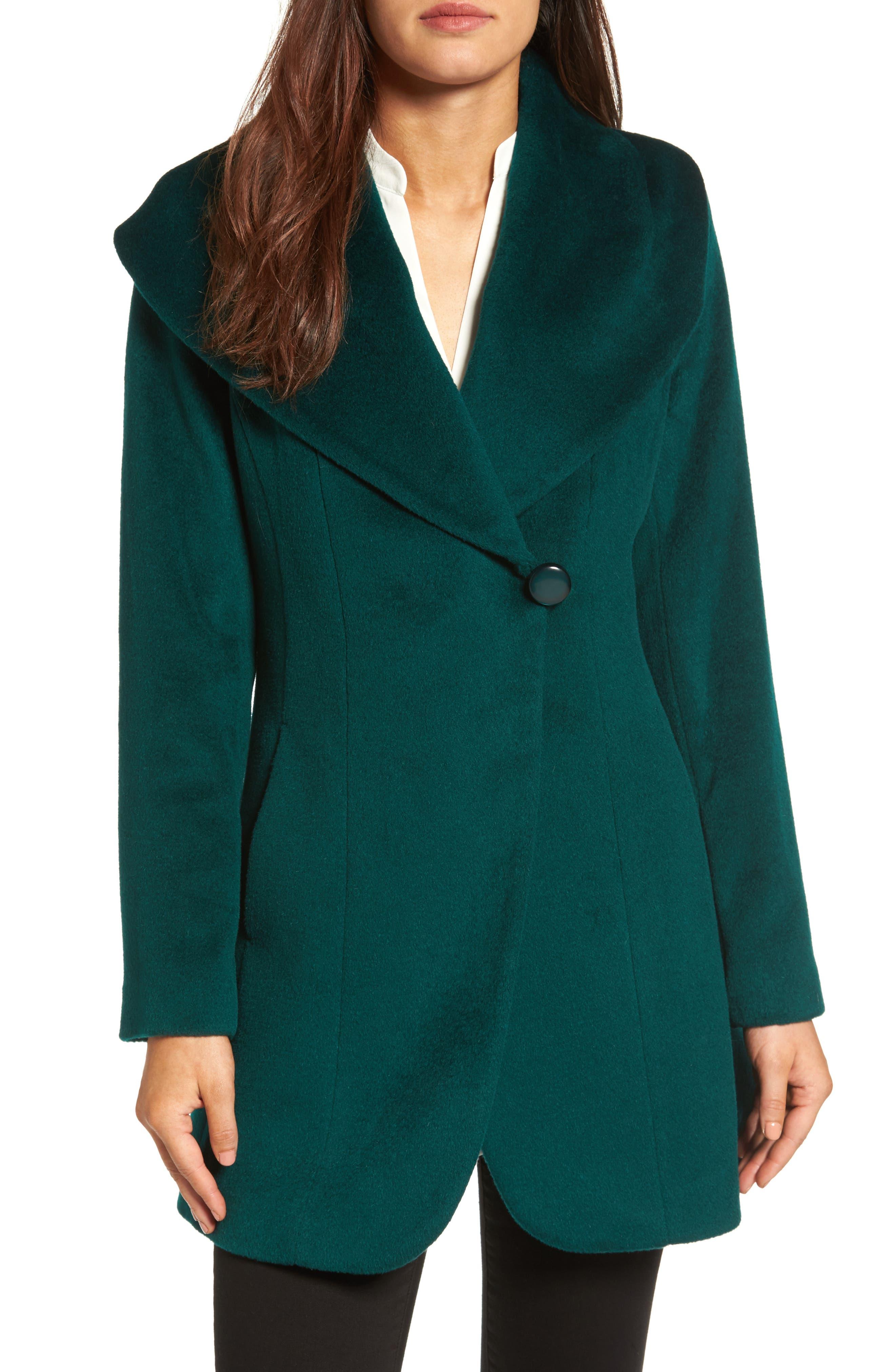 TRINA TURK Jemma Shawl Collar Coat