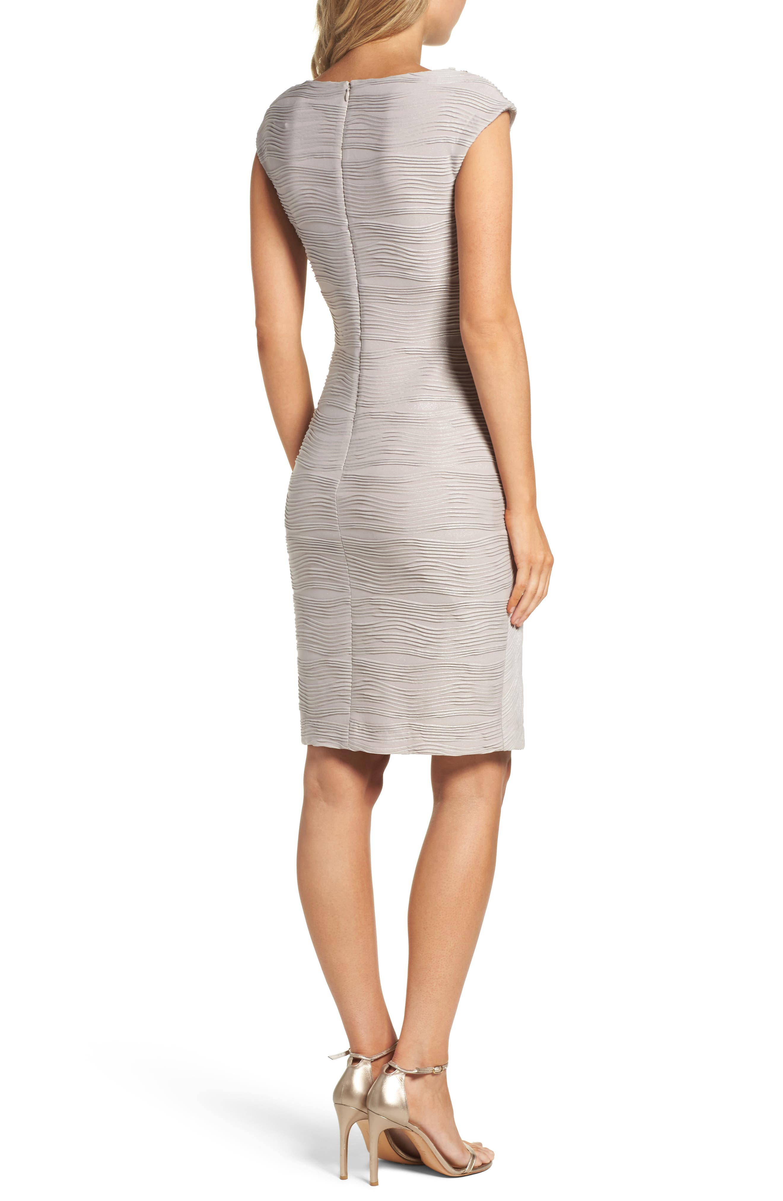 Embellished Neckline Sheath Dress,                             Alternate thumbnail 2, color,                             Taupe