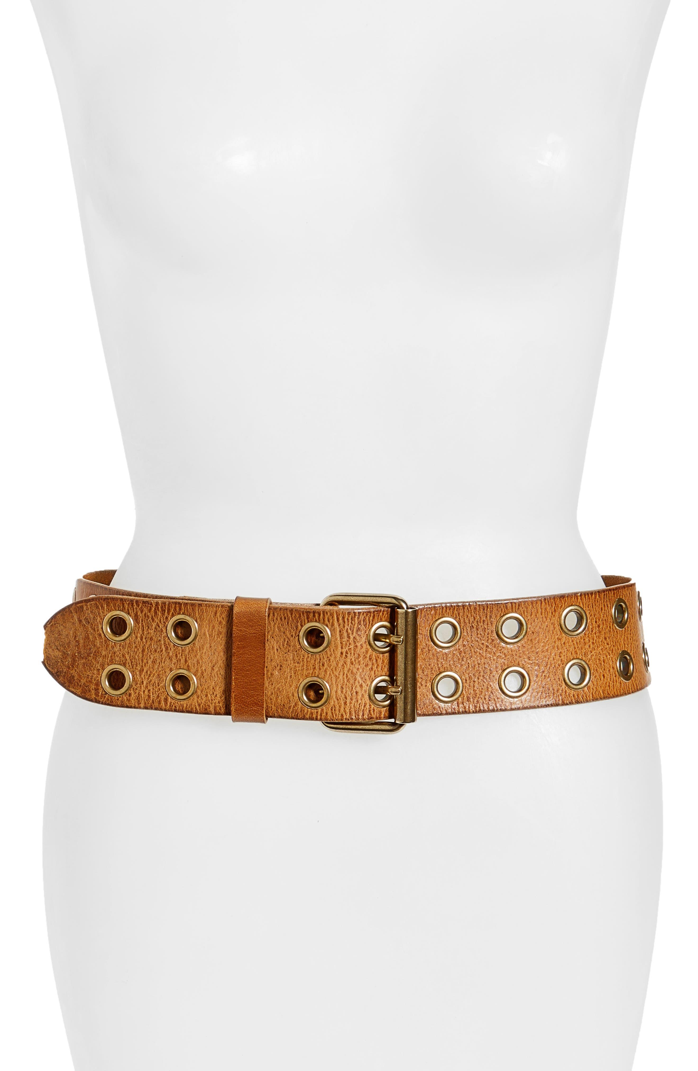 Main Image - Frye Double Grommet Leather Belt