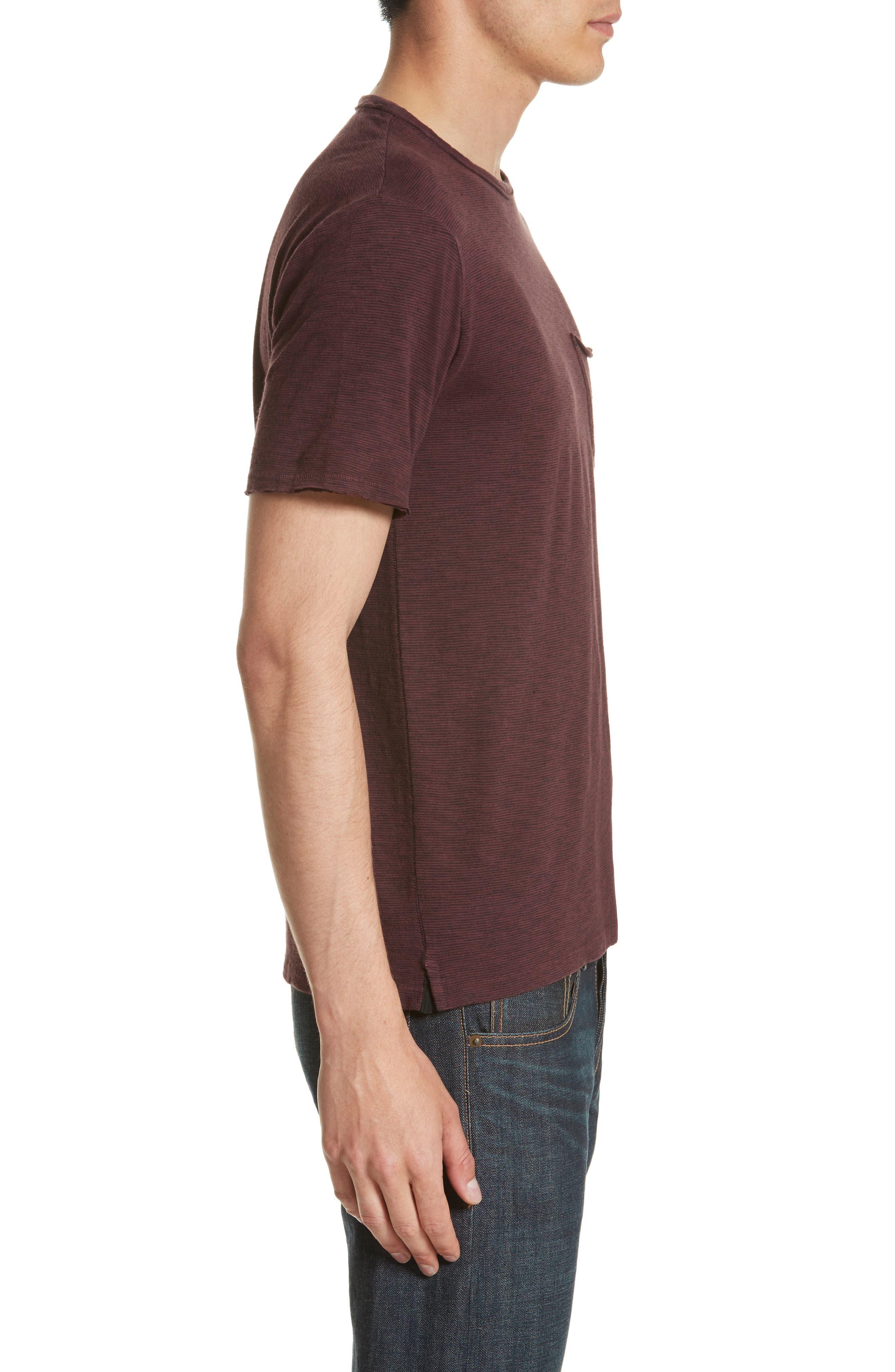 Owen Pocket T-Shirt,                             Alternate thumbnail 3, color,                             Mohagany