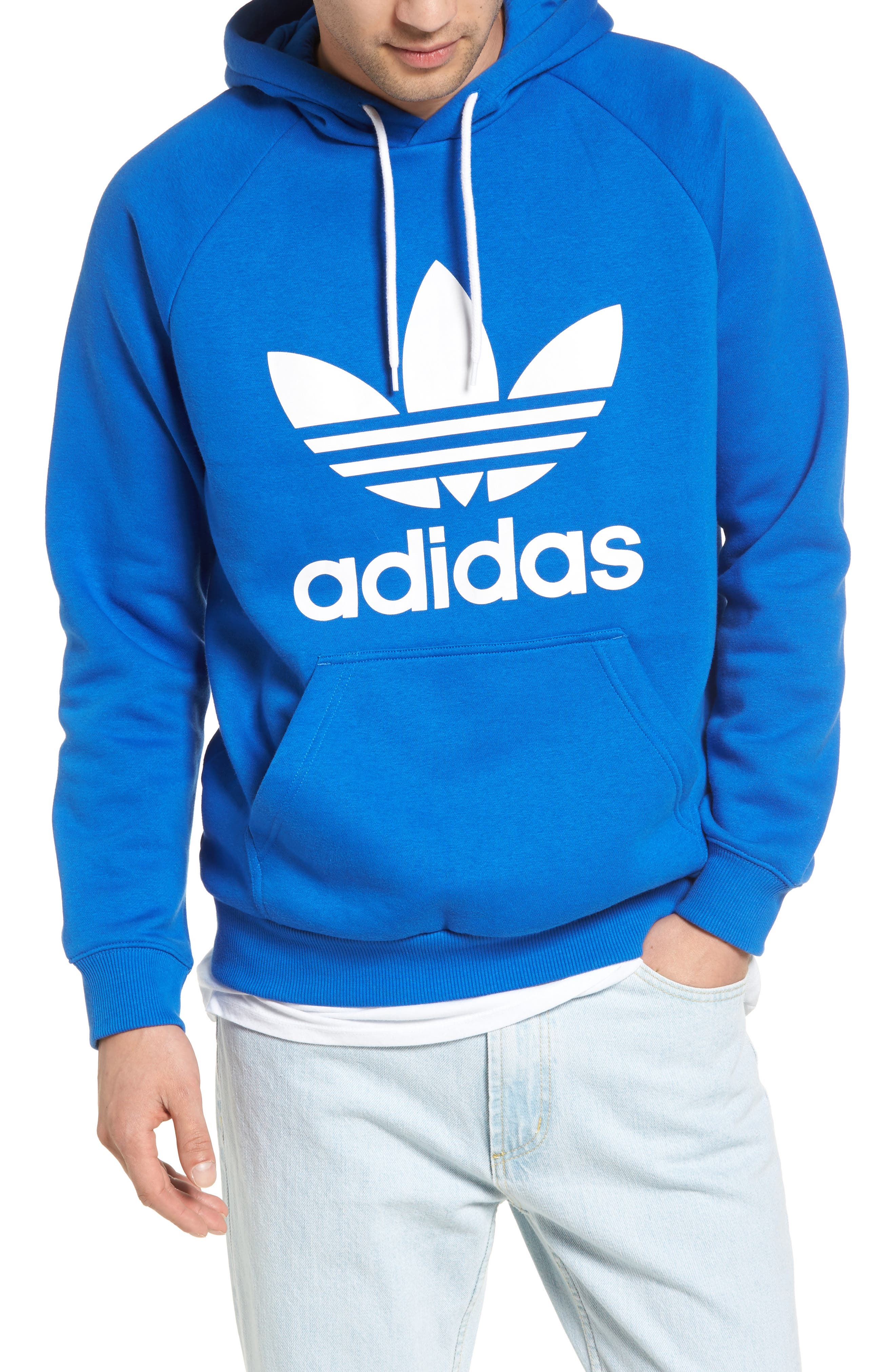 Alternate Image 1 Selected - adidas Originals Trefoil Graphic Hoodie