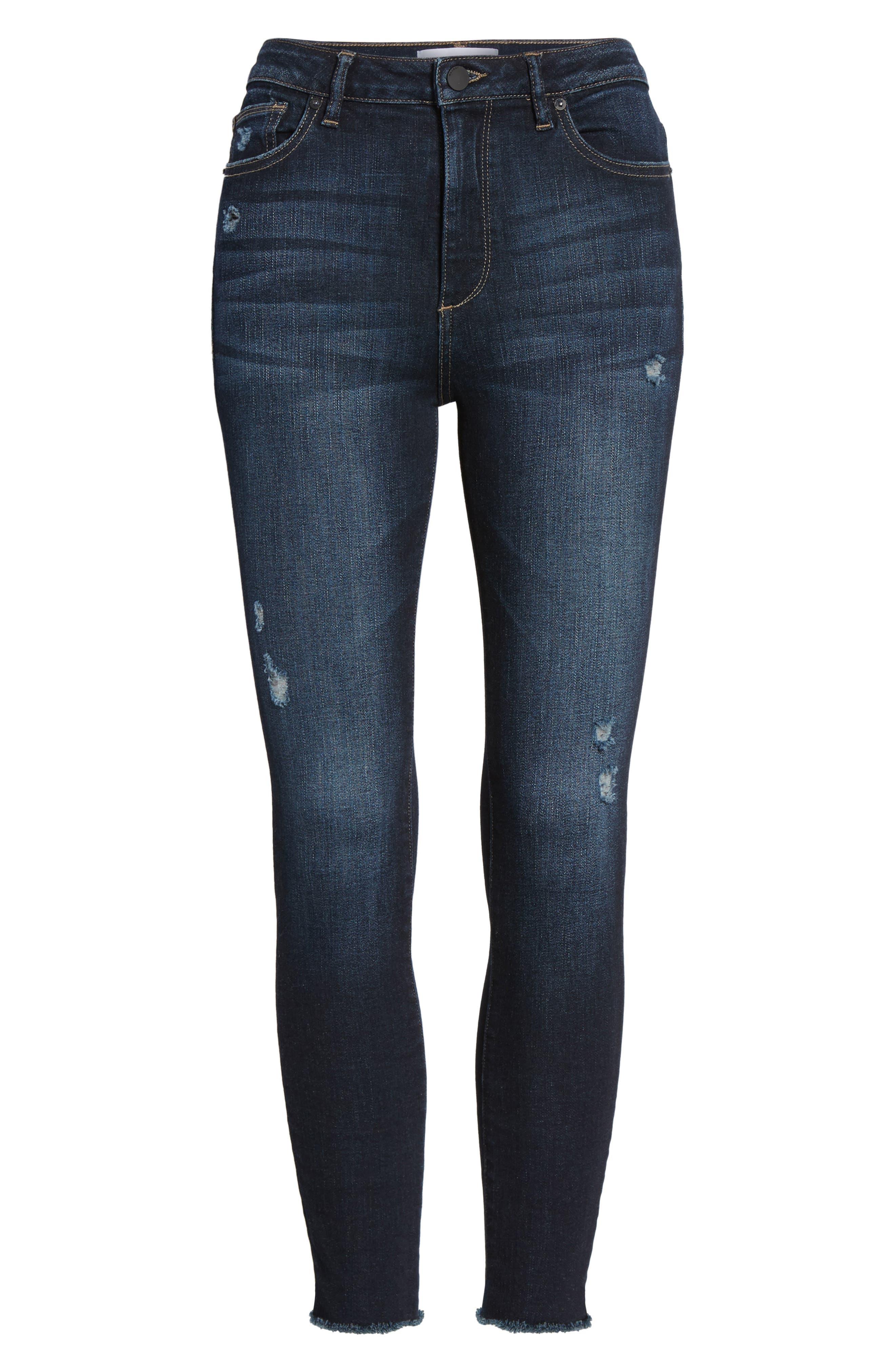 Chrissy High Waist Crop Skinny Jeans,                             Alternate thumbnail 6, color,                             Trinity