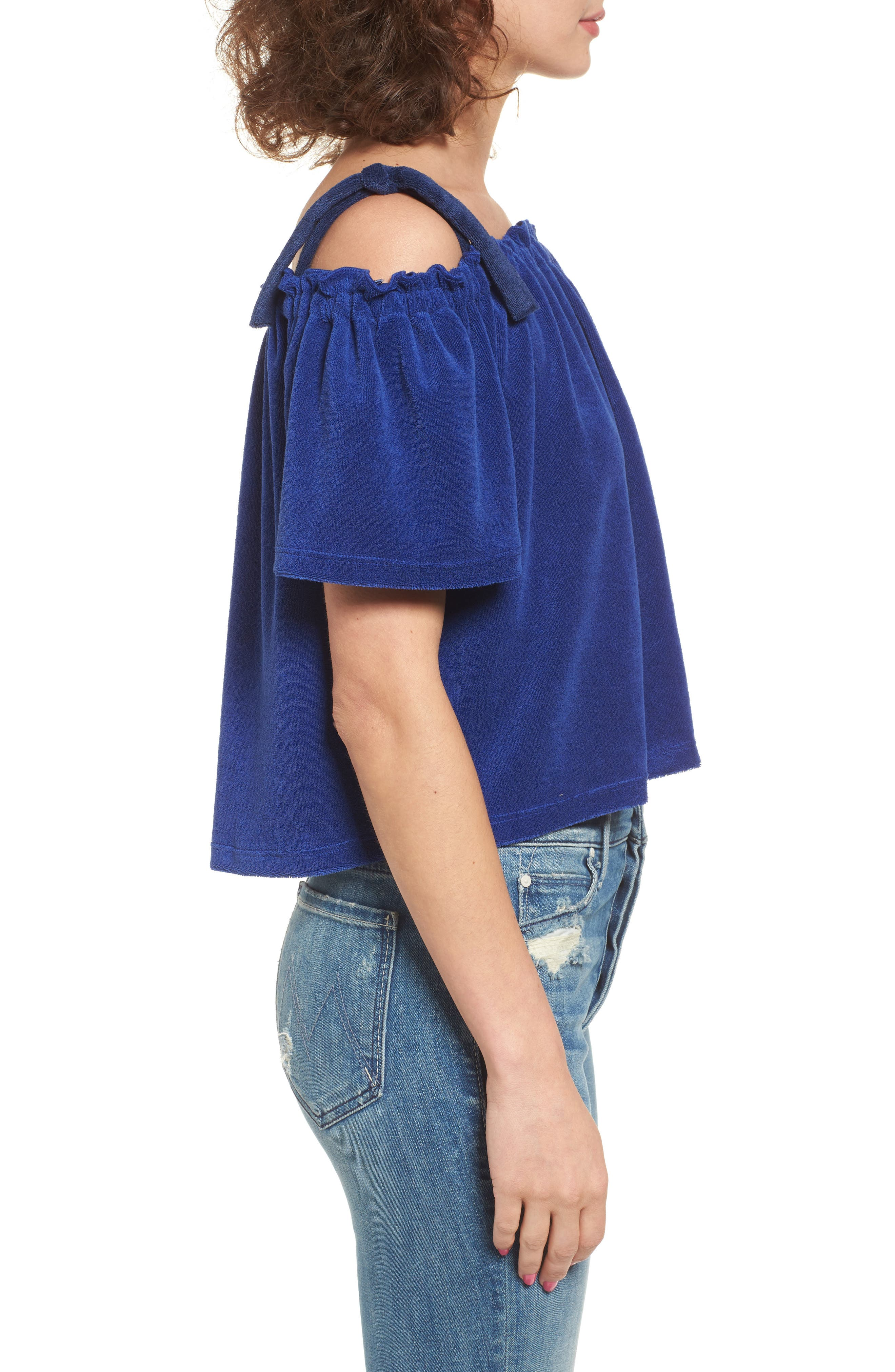 Alternate Image 3  - Juicy Couture Venice Beach Microterry Off the Shoulder Top