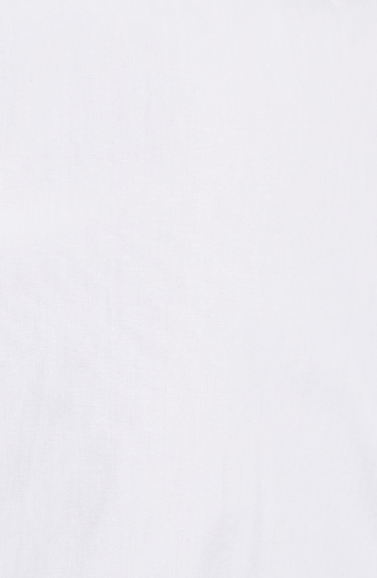 Cotton Blouse,                             Alternate thumbnail 6, color,                             Blanc