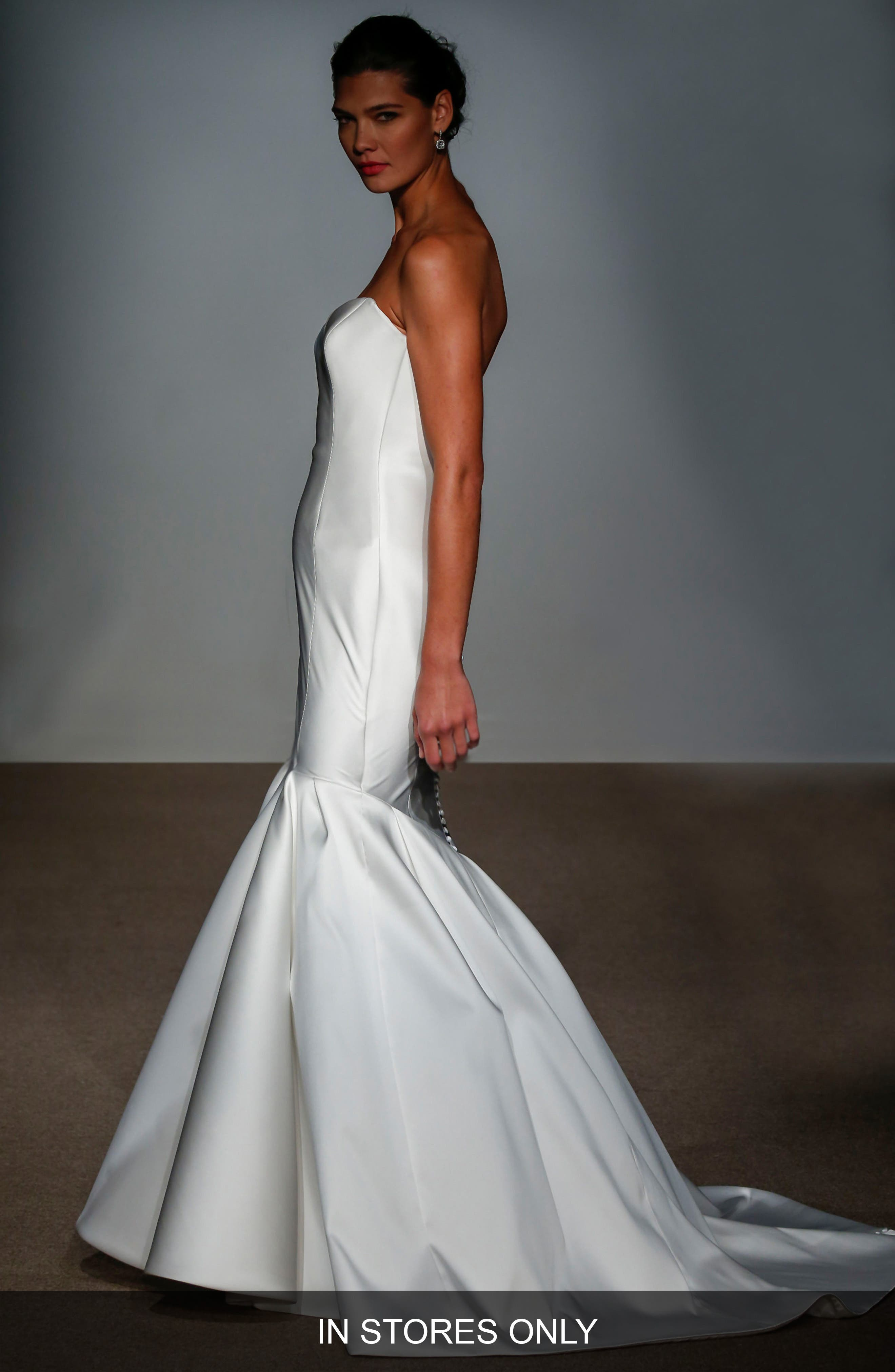 Alternate Image 1 Selected - Anna Maier Couture Nara Strapless Silk Satin Mermaid Gown