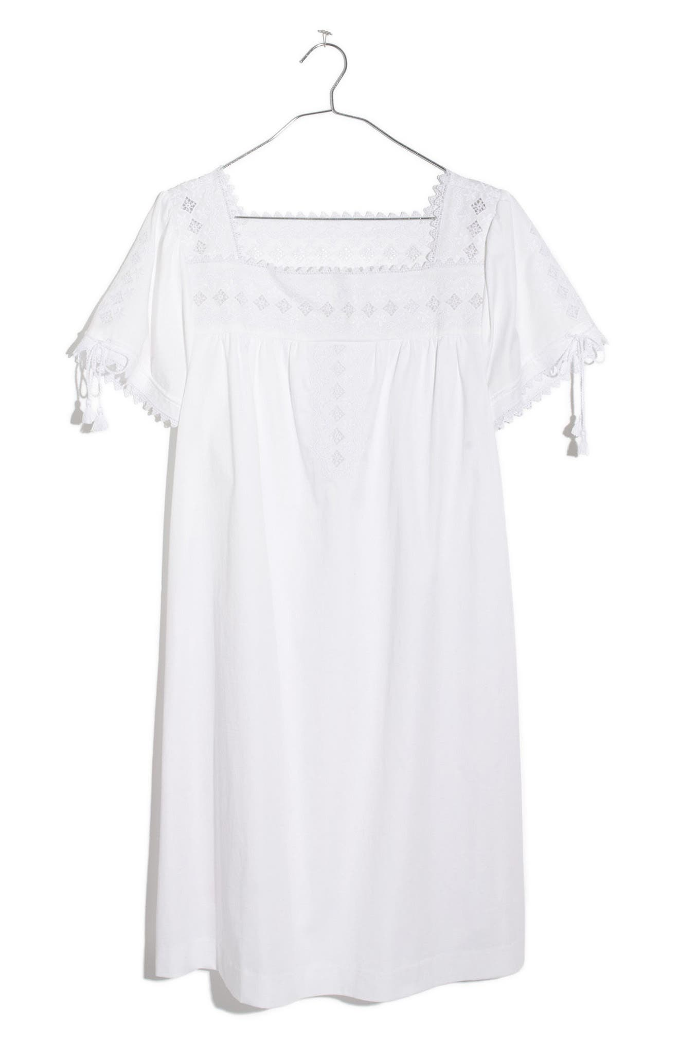 MADEWELL Eyelet Shift Dress