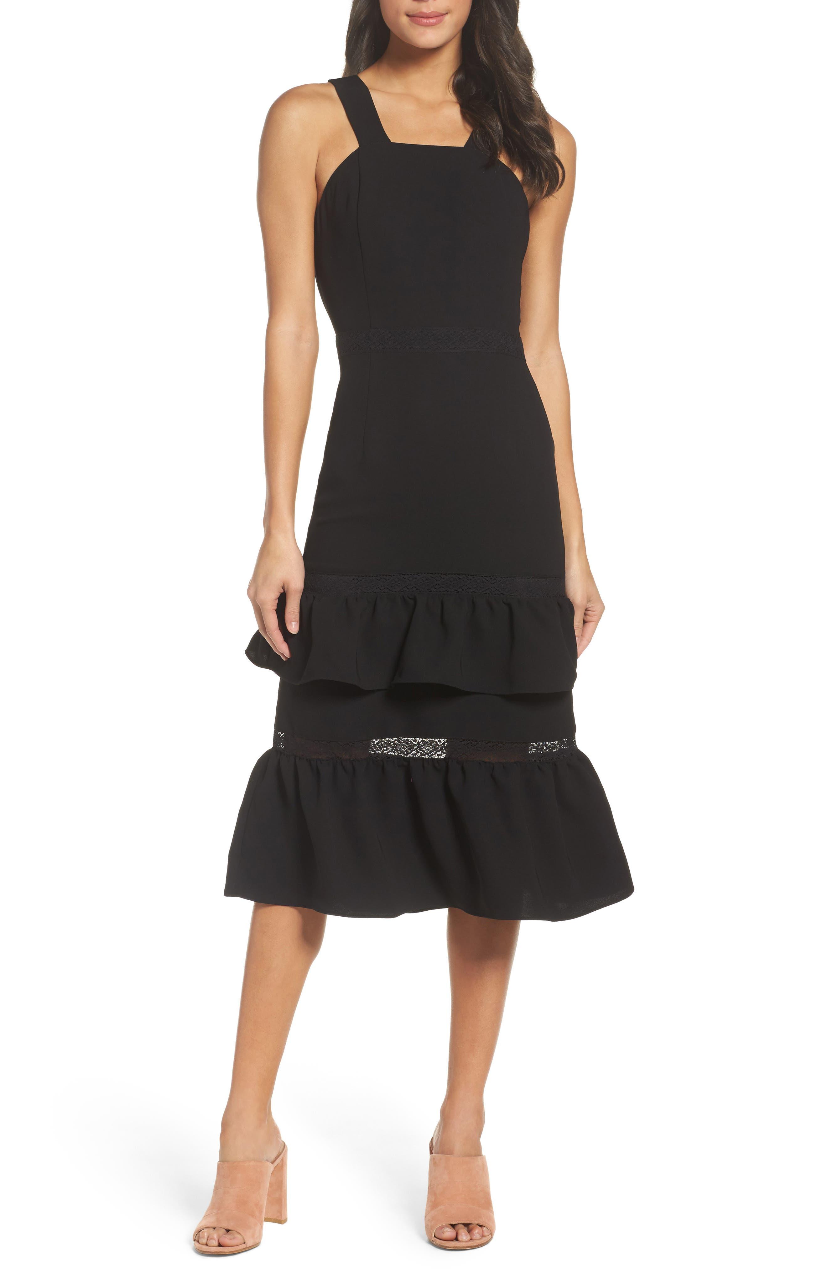 Main Image - Chelsea28 Mixed Media Midi Dress