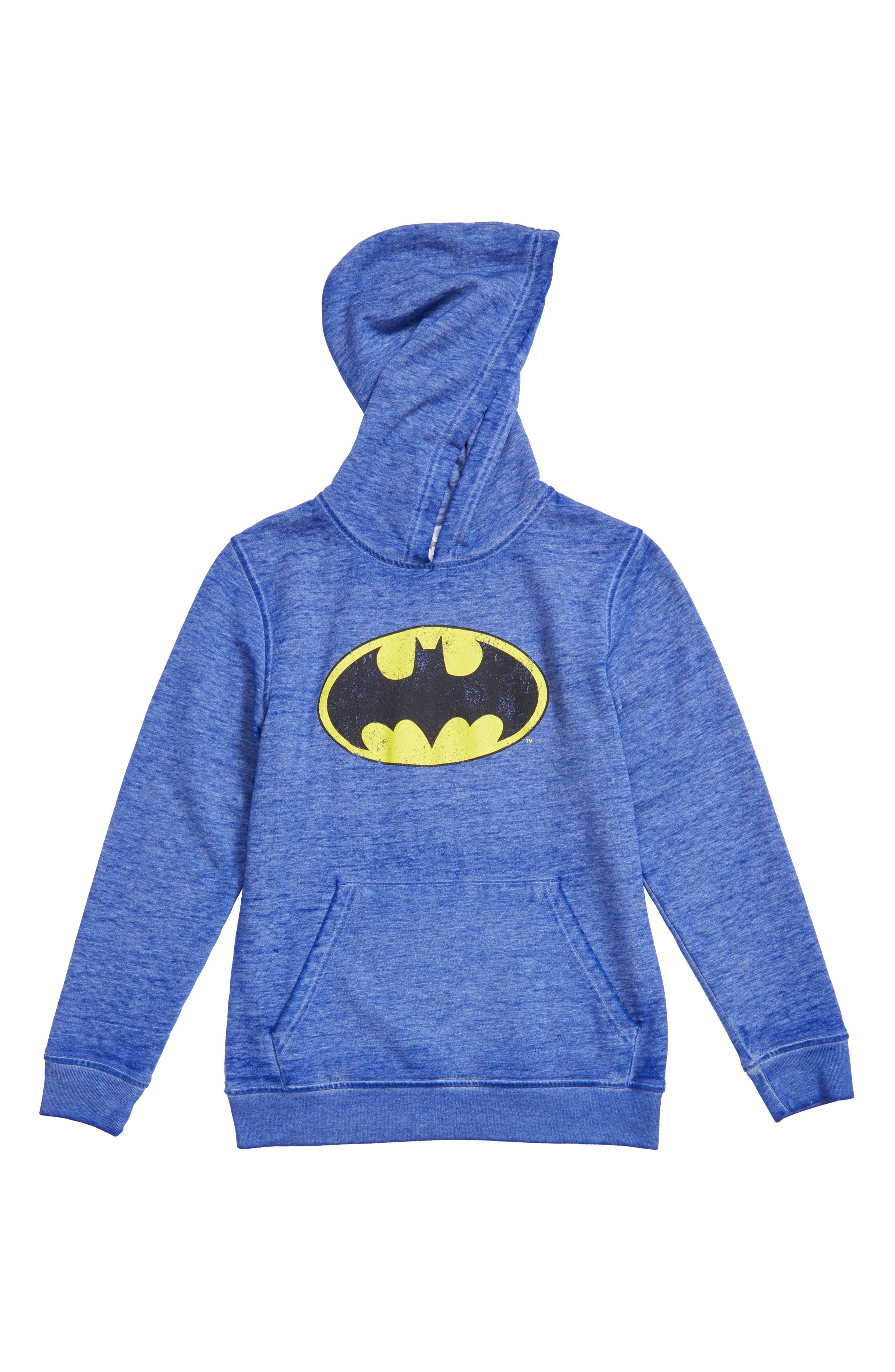 Jem Batman Burnout Fleece Hoodie (Toddler Boys, Little Boys & Big Boys)