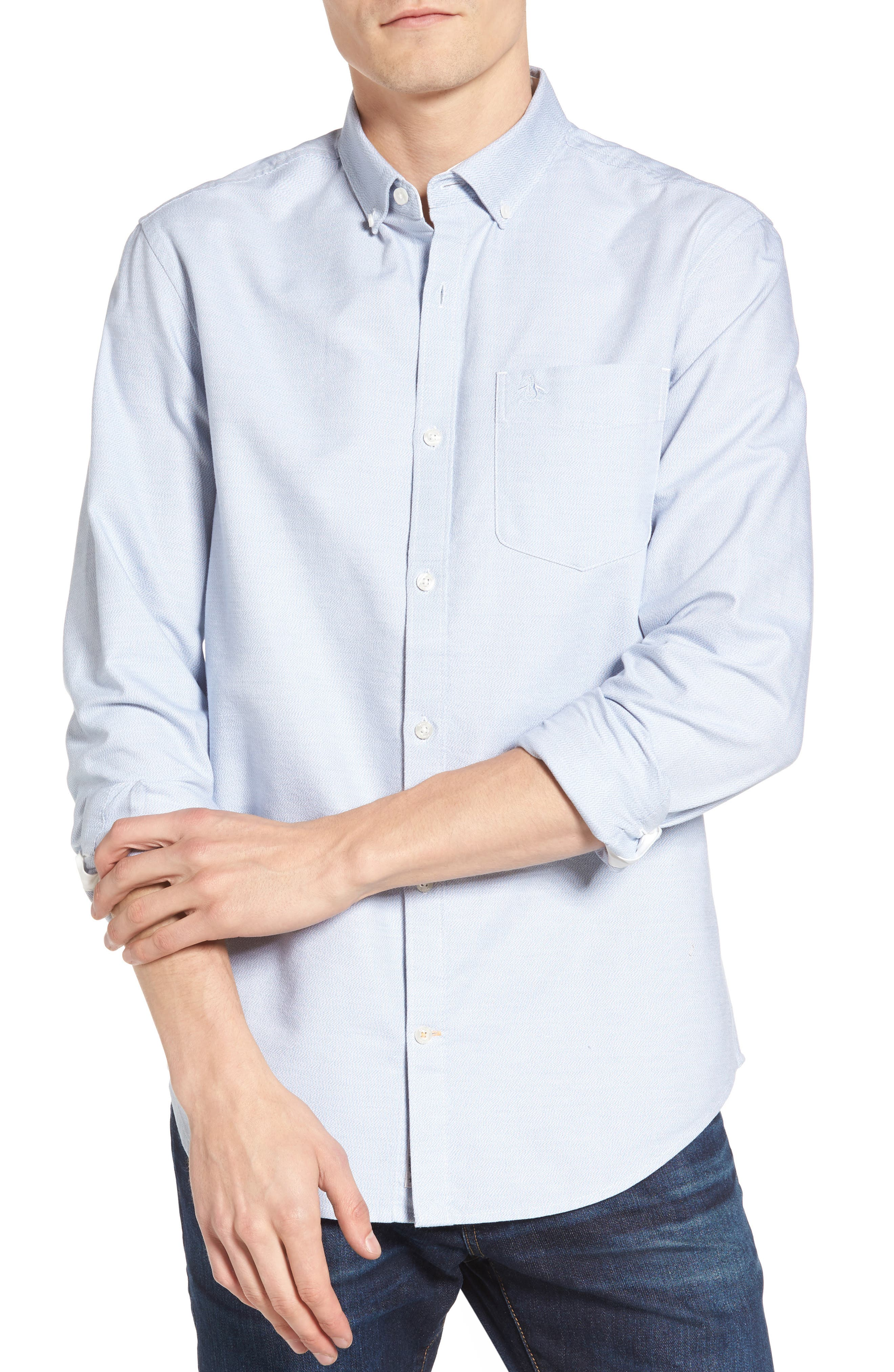 Original Penguin Heritage Slim Fit Woven Shirt