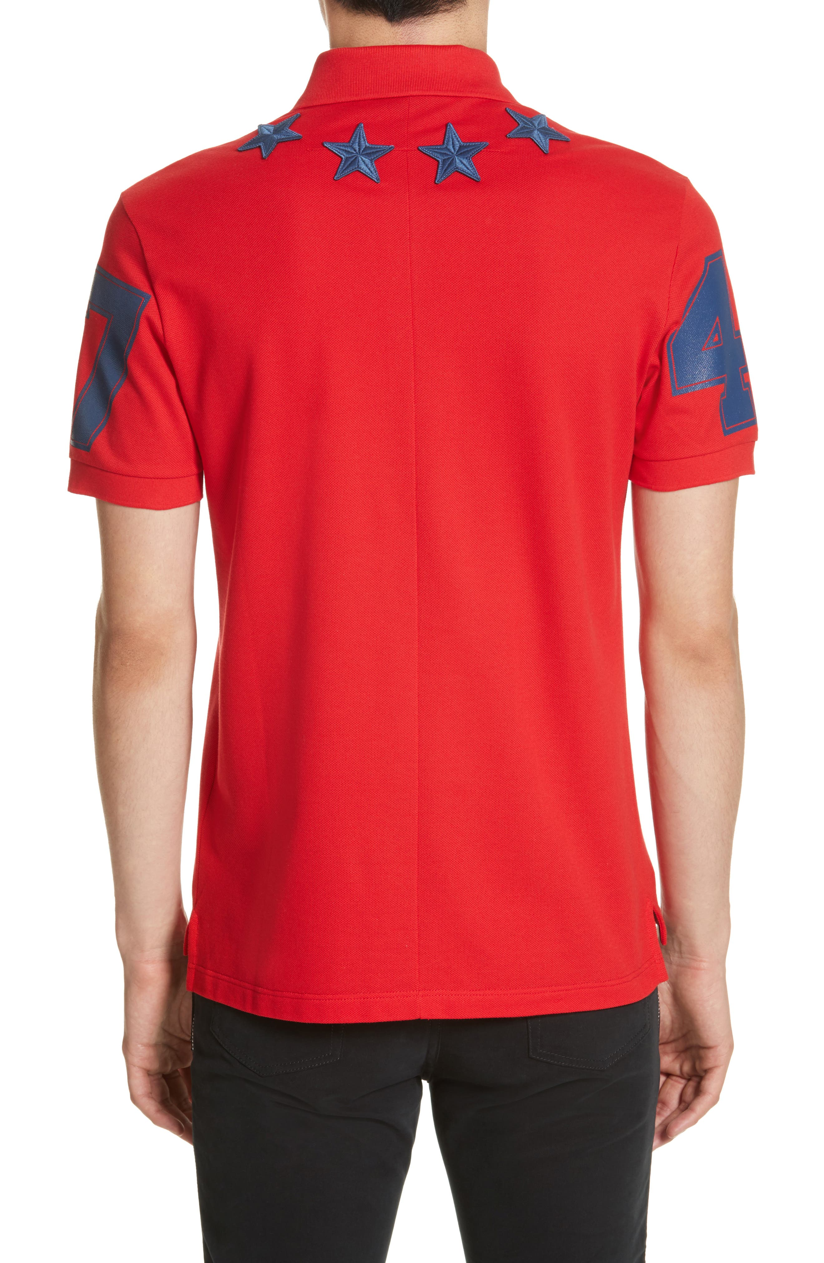 Star 74 Polo,                             Alternate thumbnail 2, color,                             Red