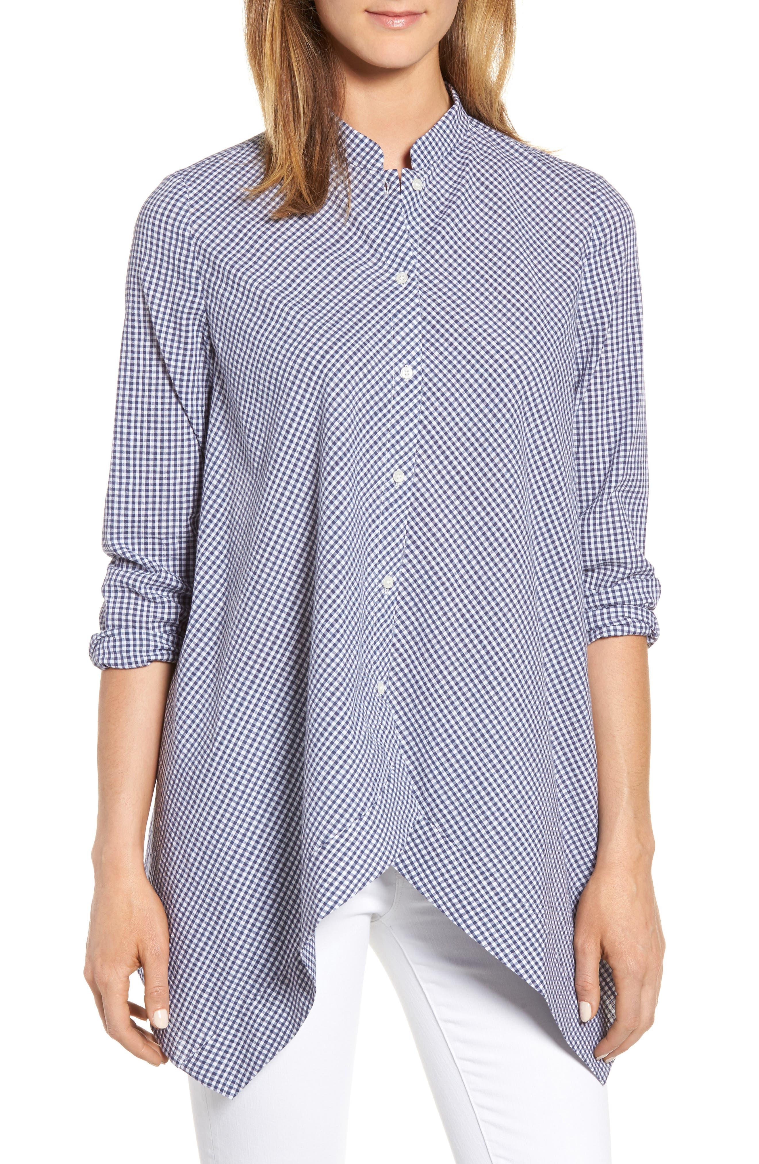 Shirt,                         Main,                         color, Eton Blue/ Optic White