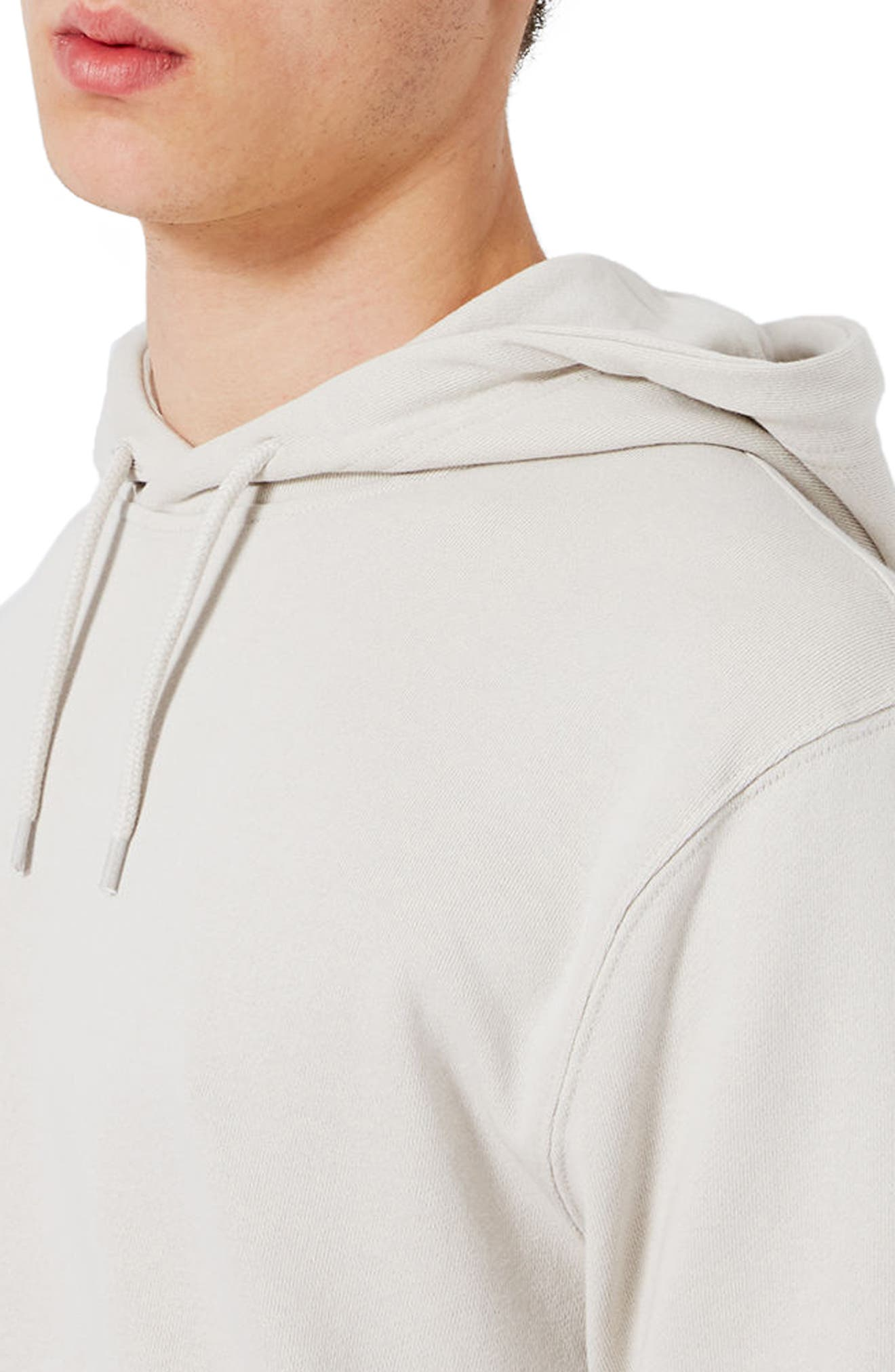 Classic Fit Hoodie,                             Alternate thumbnail 3, color,                             Stone