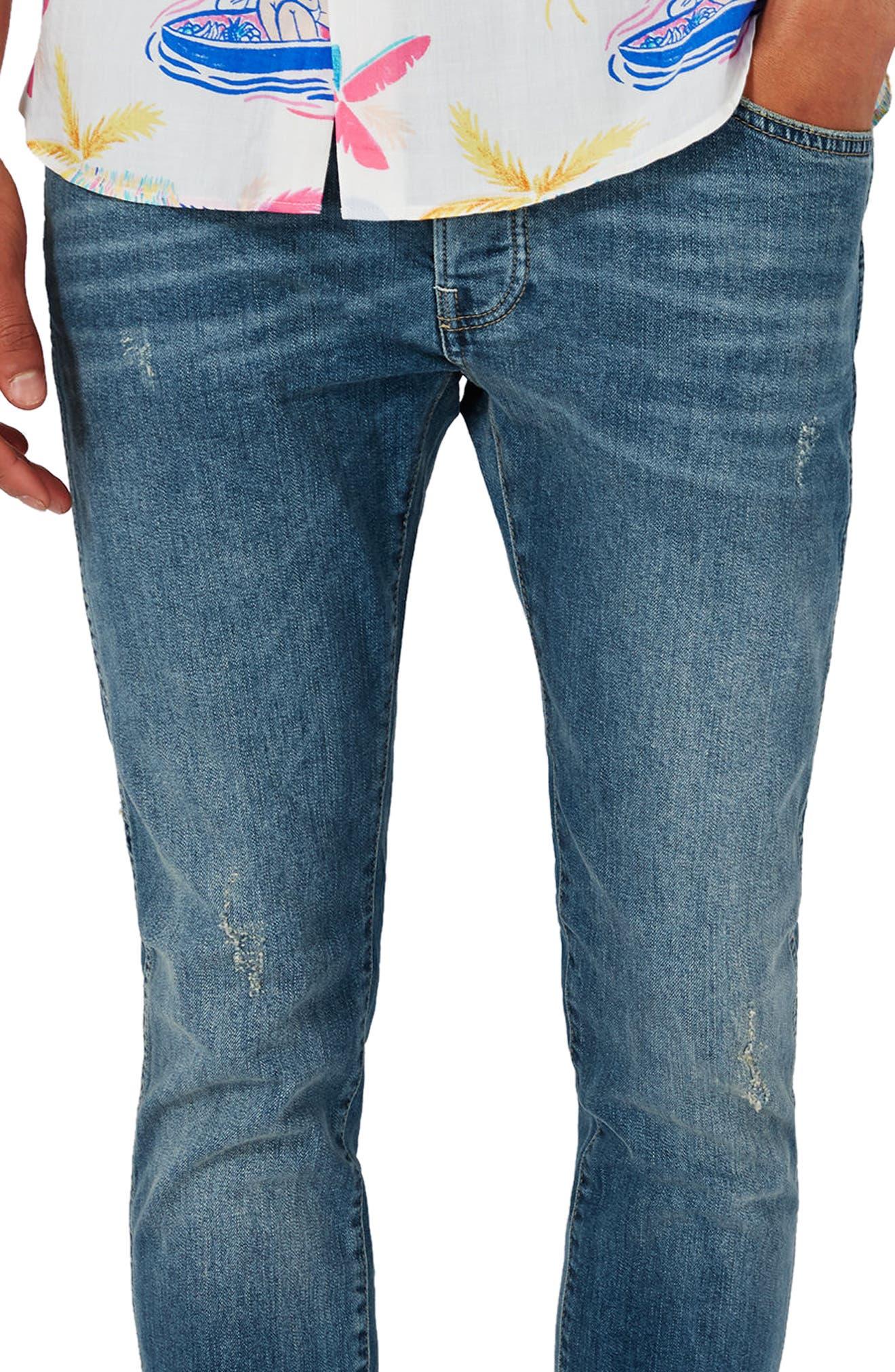 Alternate Image 4  - Topman Stretch Skinny Jeans