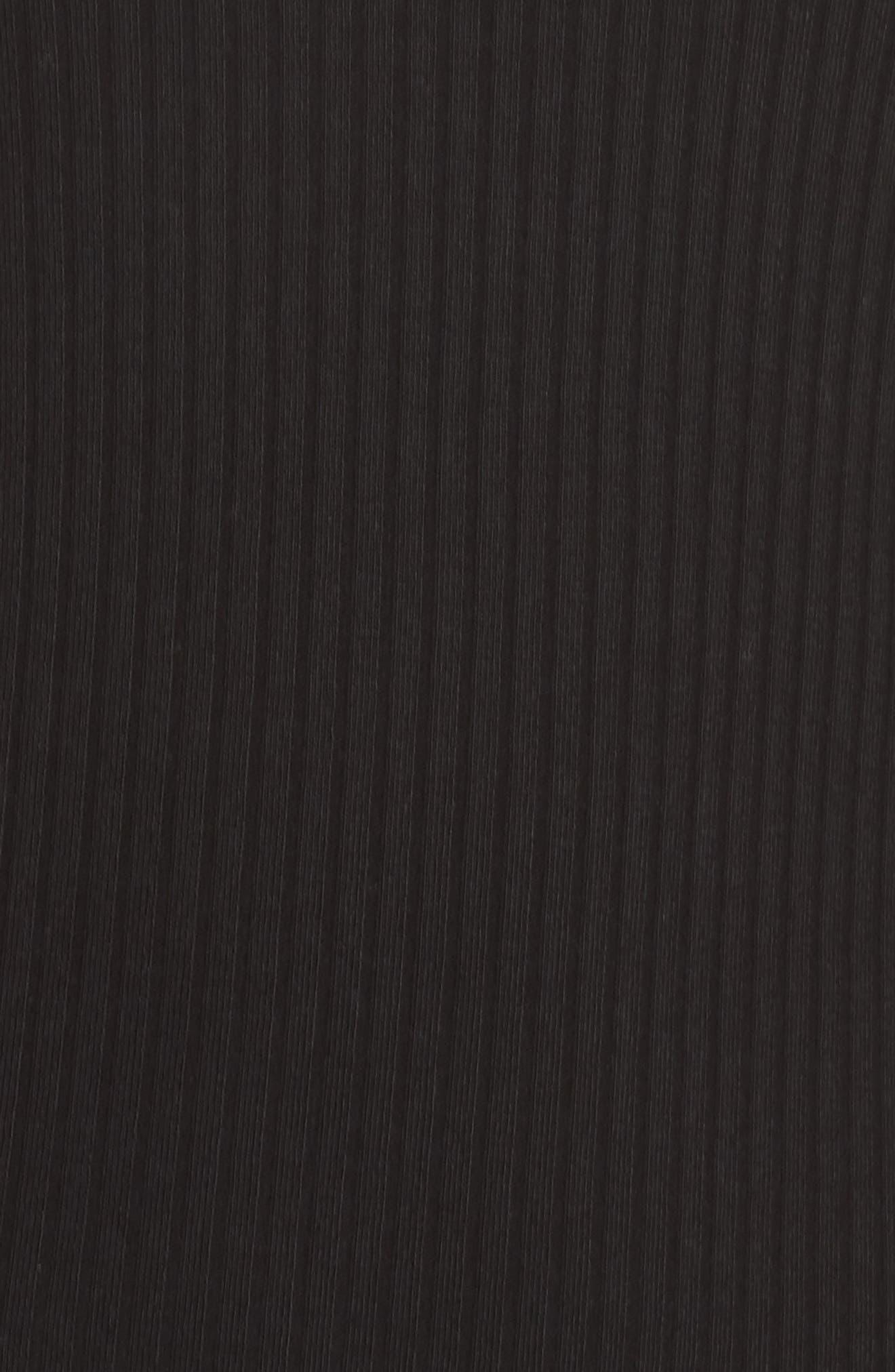 Tommy Body-Con Midi Dress,                             Alternate thumbnail 5, color,                             Black