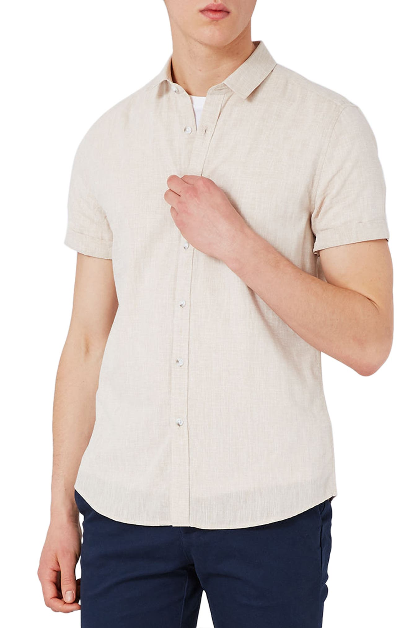 Topman Slub Shirt