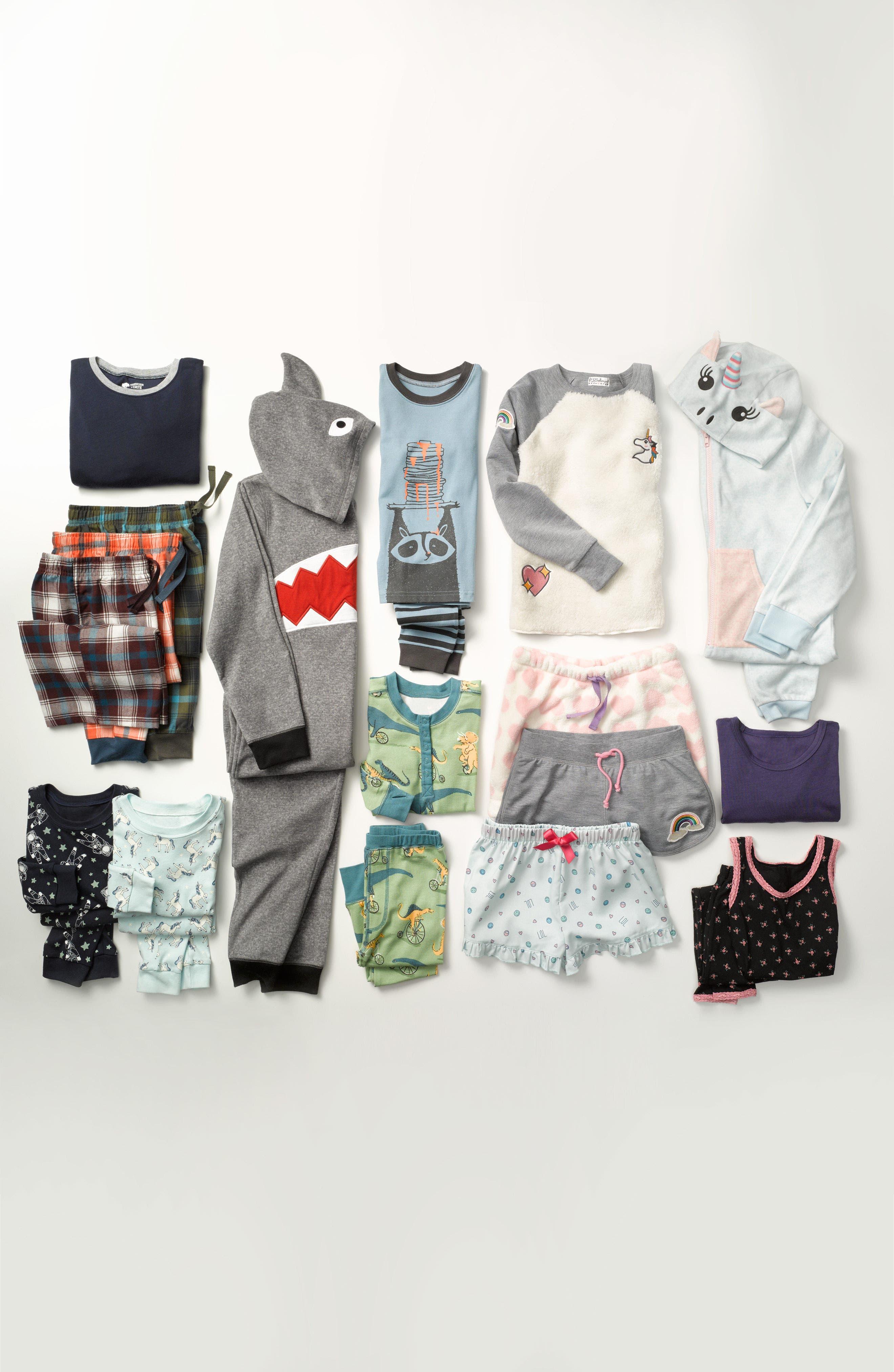 Alternate Image 3  - PJ Salvage Patches Two-Piece Pajamas (Big Girls)