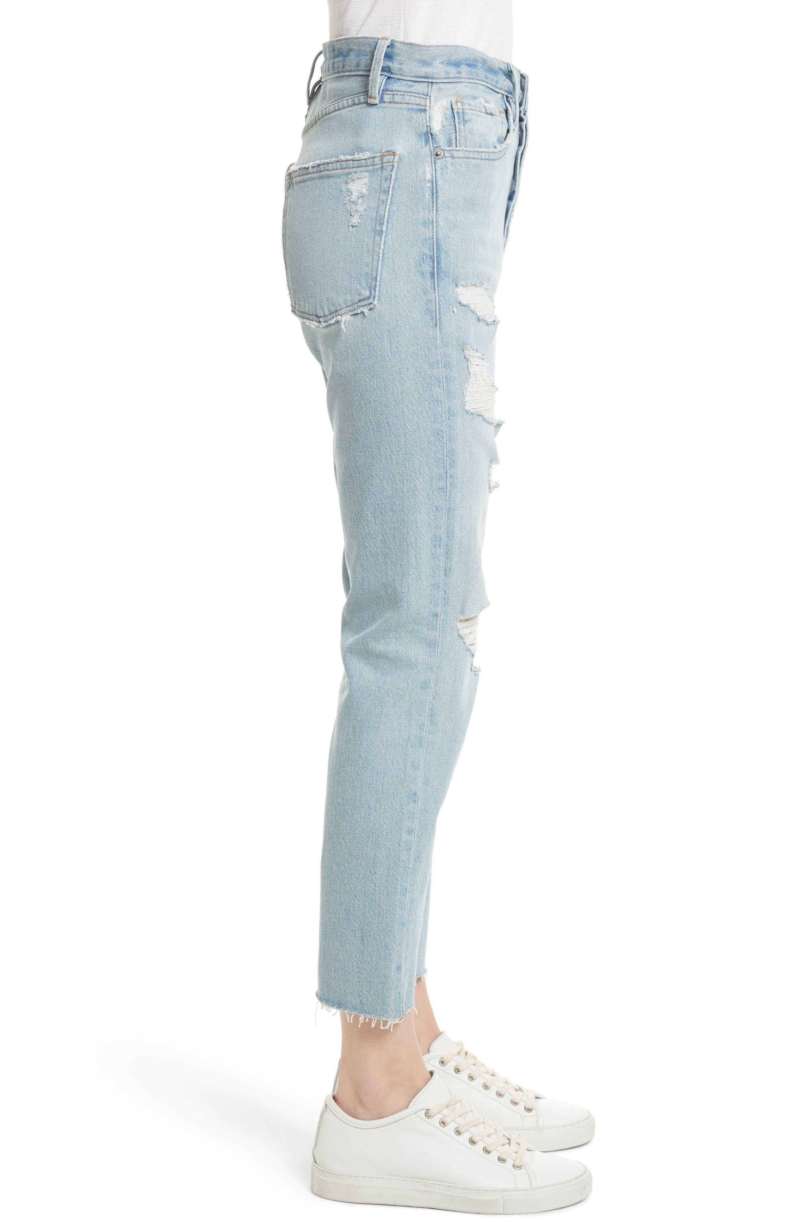 Alternate Image 4  - FRAME Le Original Raw Edge High Waist Jeans (Harrah)