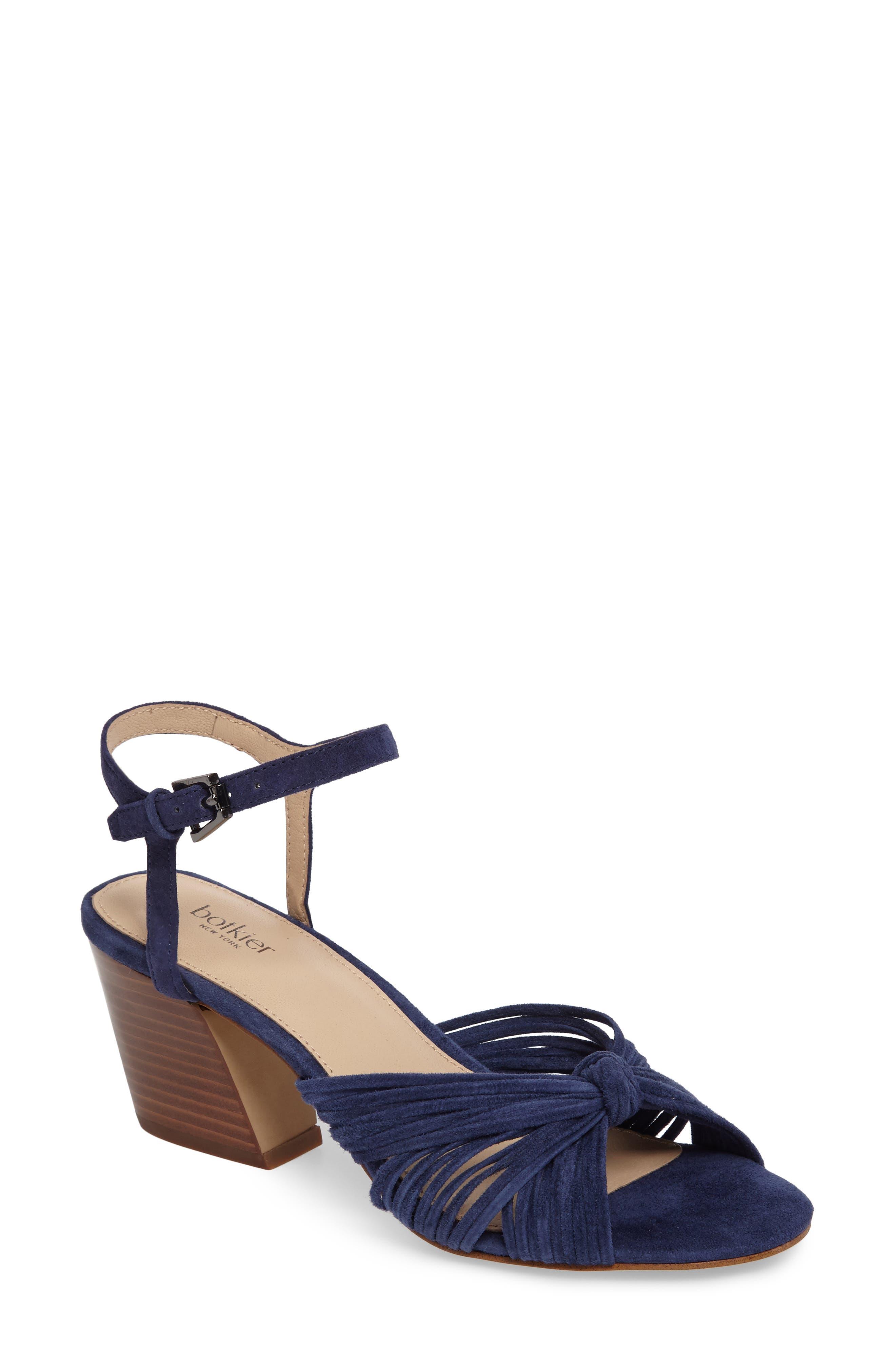 Patsy Block Heel Sandal,                             Main thumbnail 1, color,                             Navy