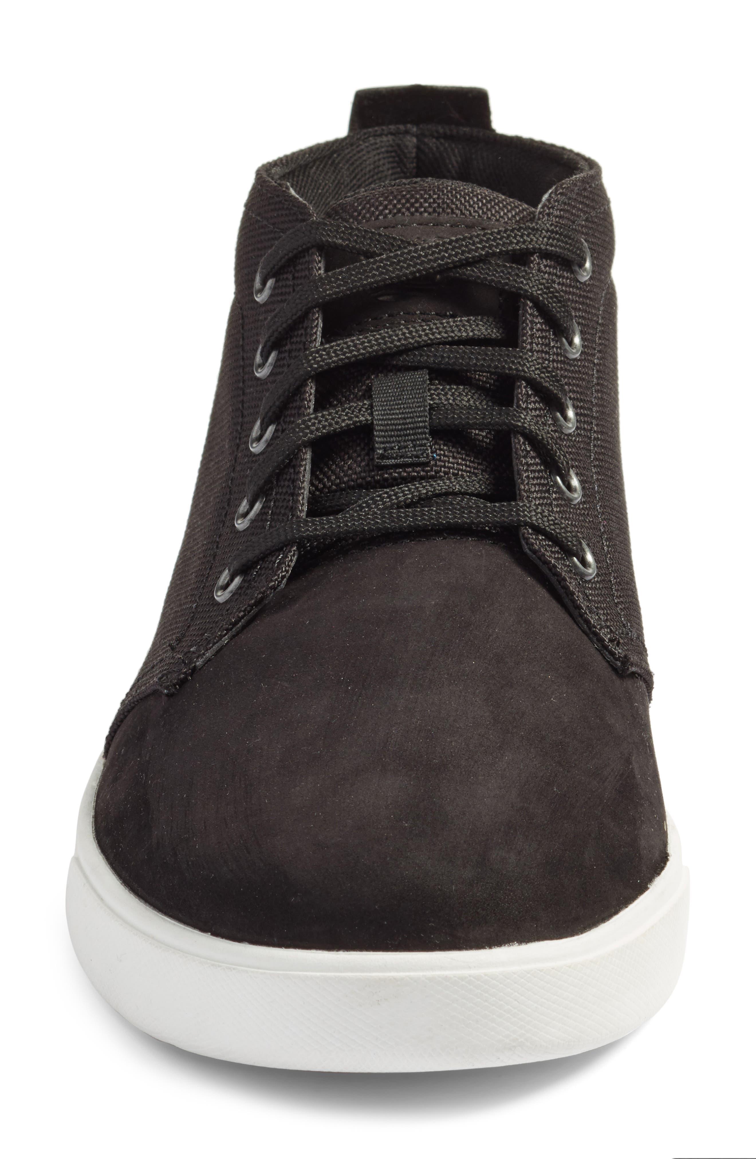 Earthkeepers<sup>™</sup> 'Groveton' Chukka Sneaker,                             Alternate thumbnail 4, color,                             Black Nubuck/ Canvas