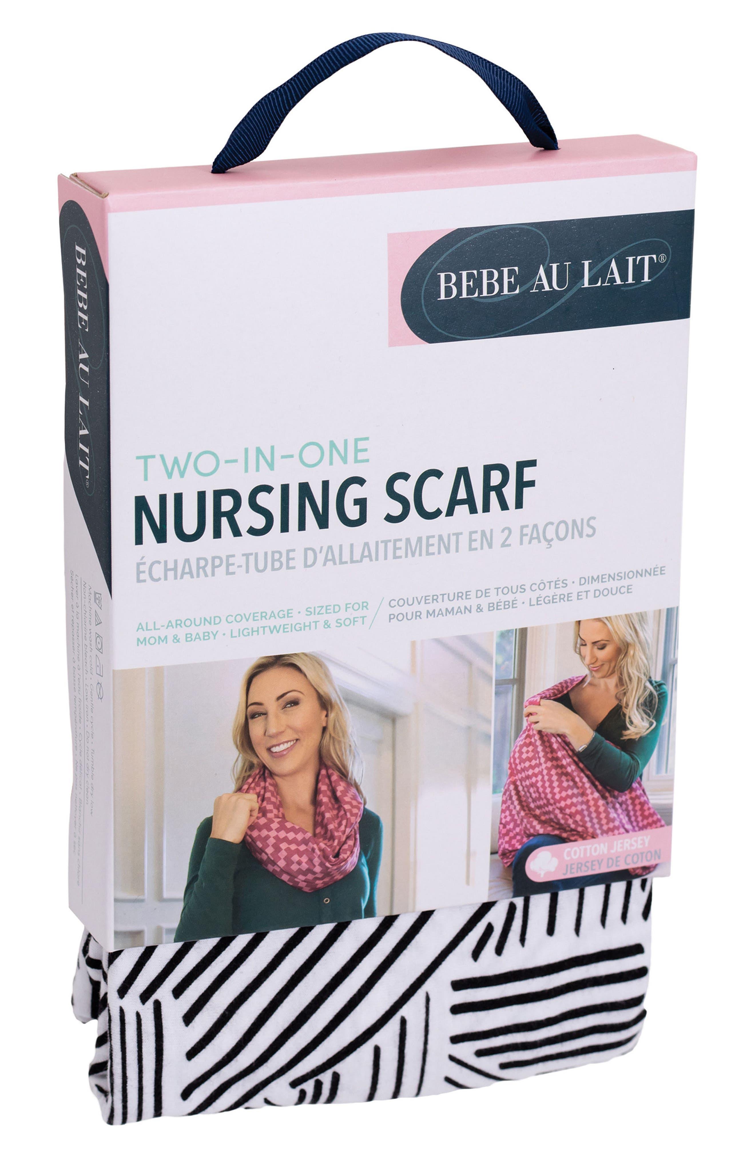 Infinity Stretch Jersey Nursing Scarf,                             Alternate thumbnail 4, color,                             Park Avenue