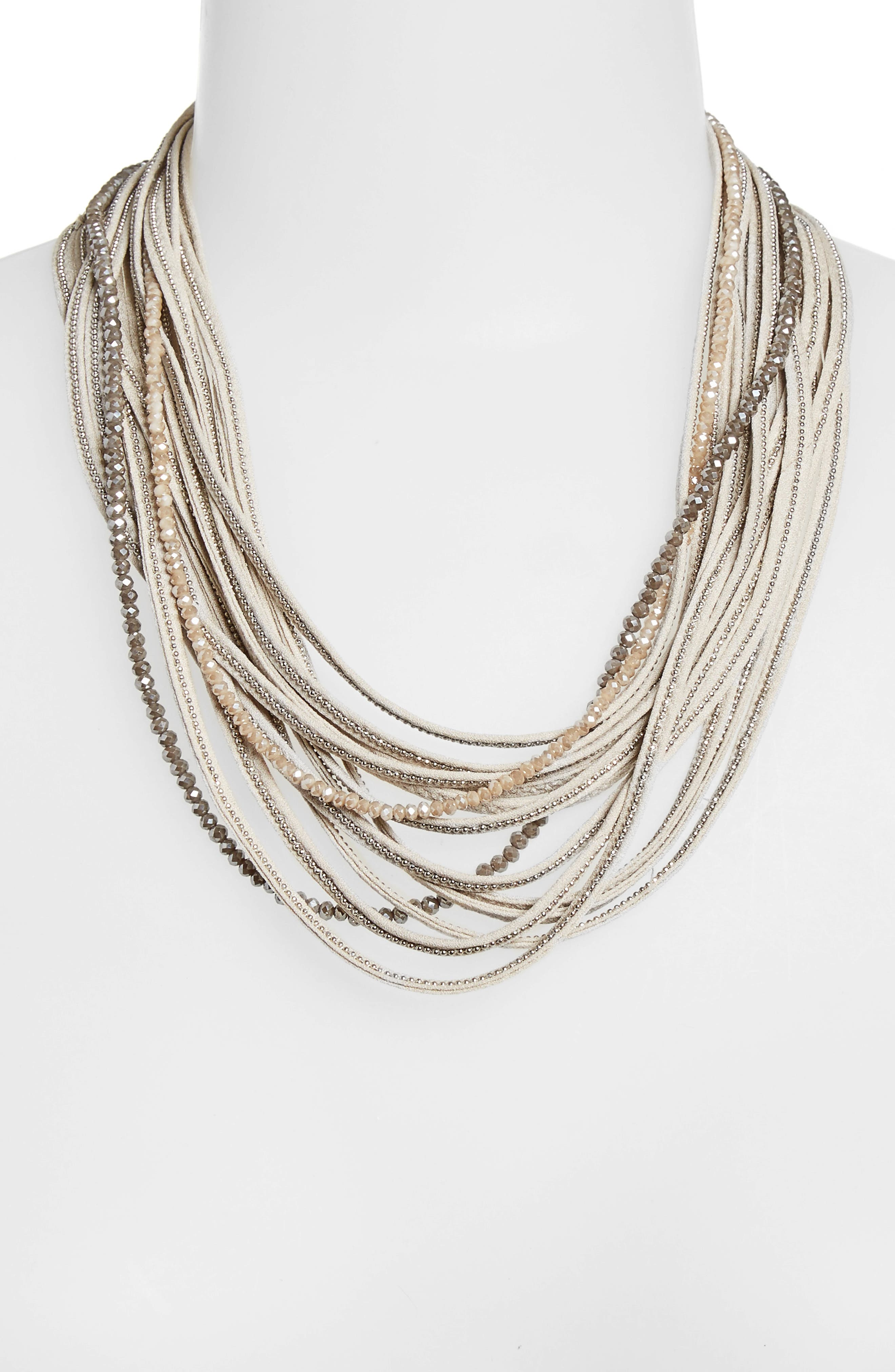 Alternate Image 2  - Fabiana Filippi Multistrand Beaded Stretch Silk Necklace