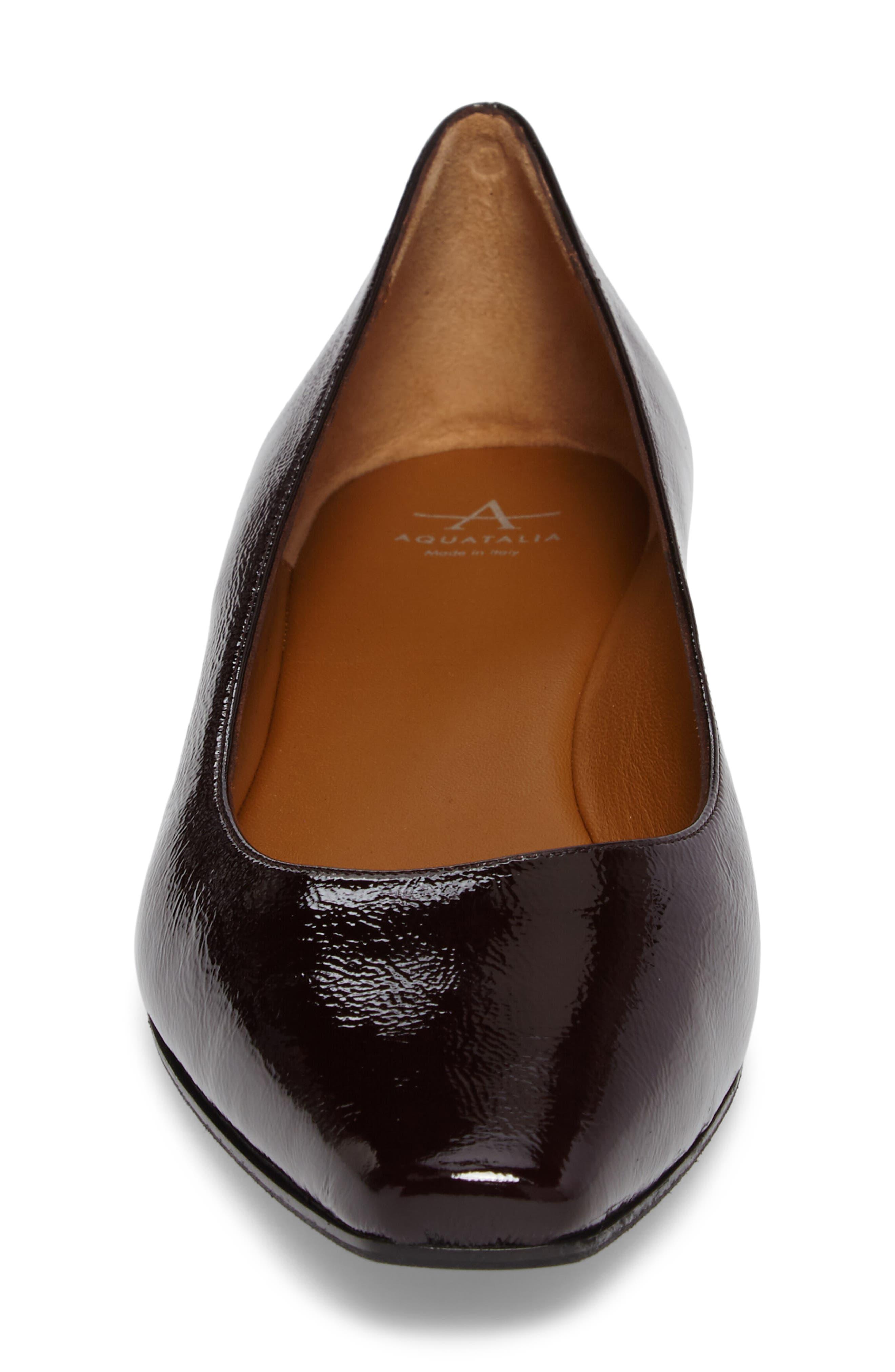 Marcella Weatherproof Leather Flat,                             Alternate thumbnail 4, color,                             Wine