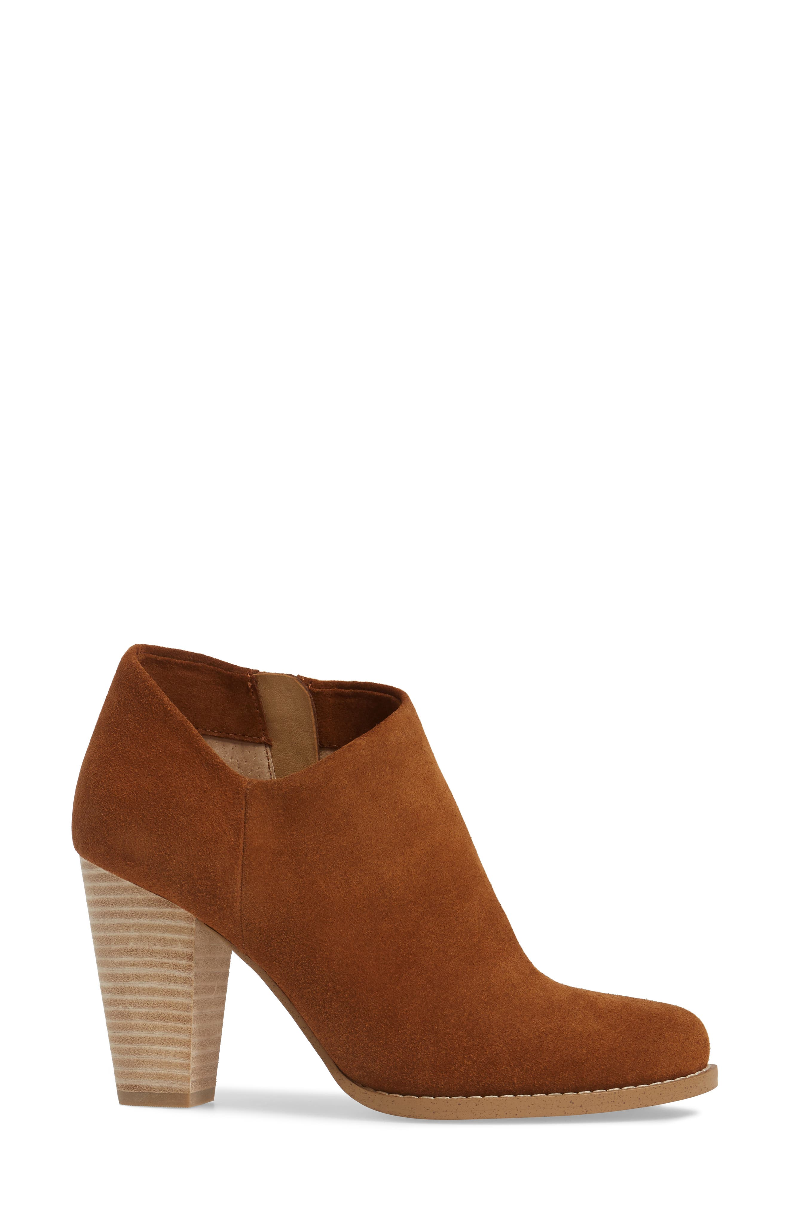 Daphne Bootie,                             Alternate thumbnail 3, color,                             Whiskey Suede