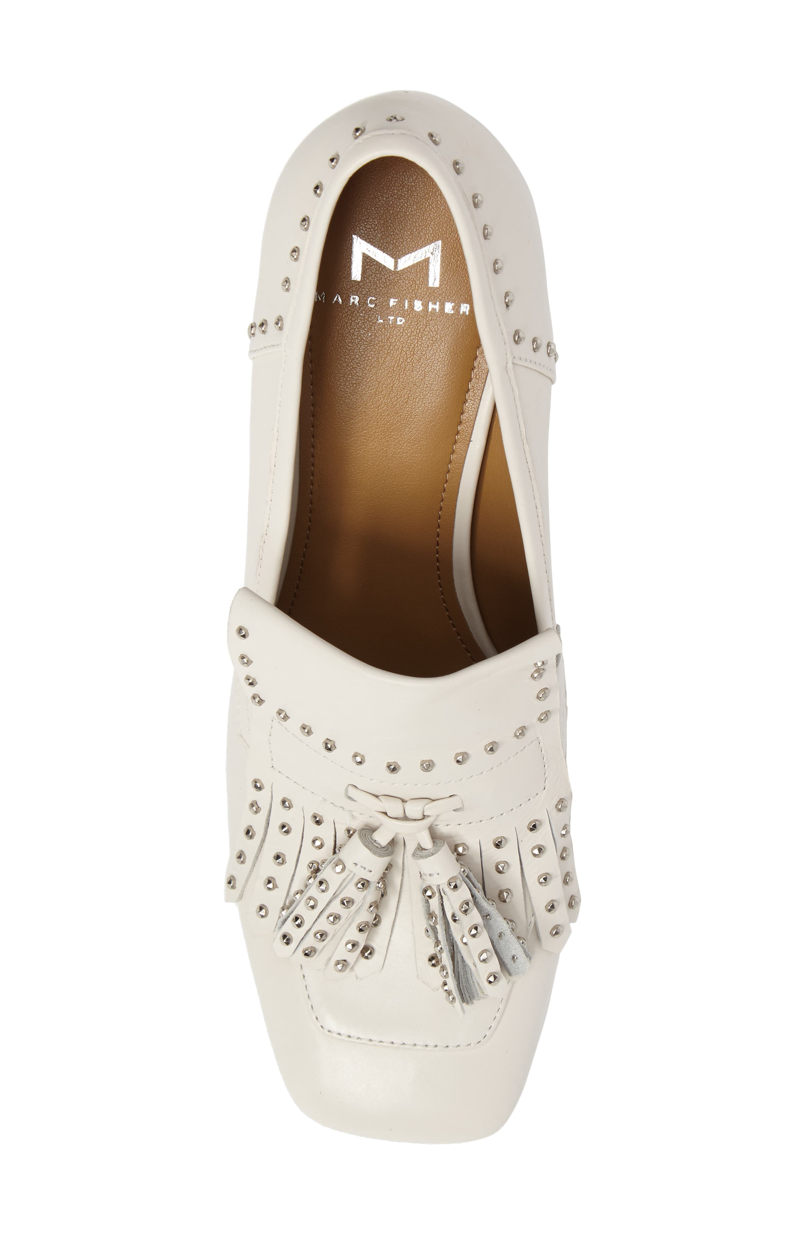 Mellie Fringe Pump,                             Alternate thumbnail 5, color,                             Ivory Leather